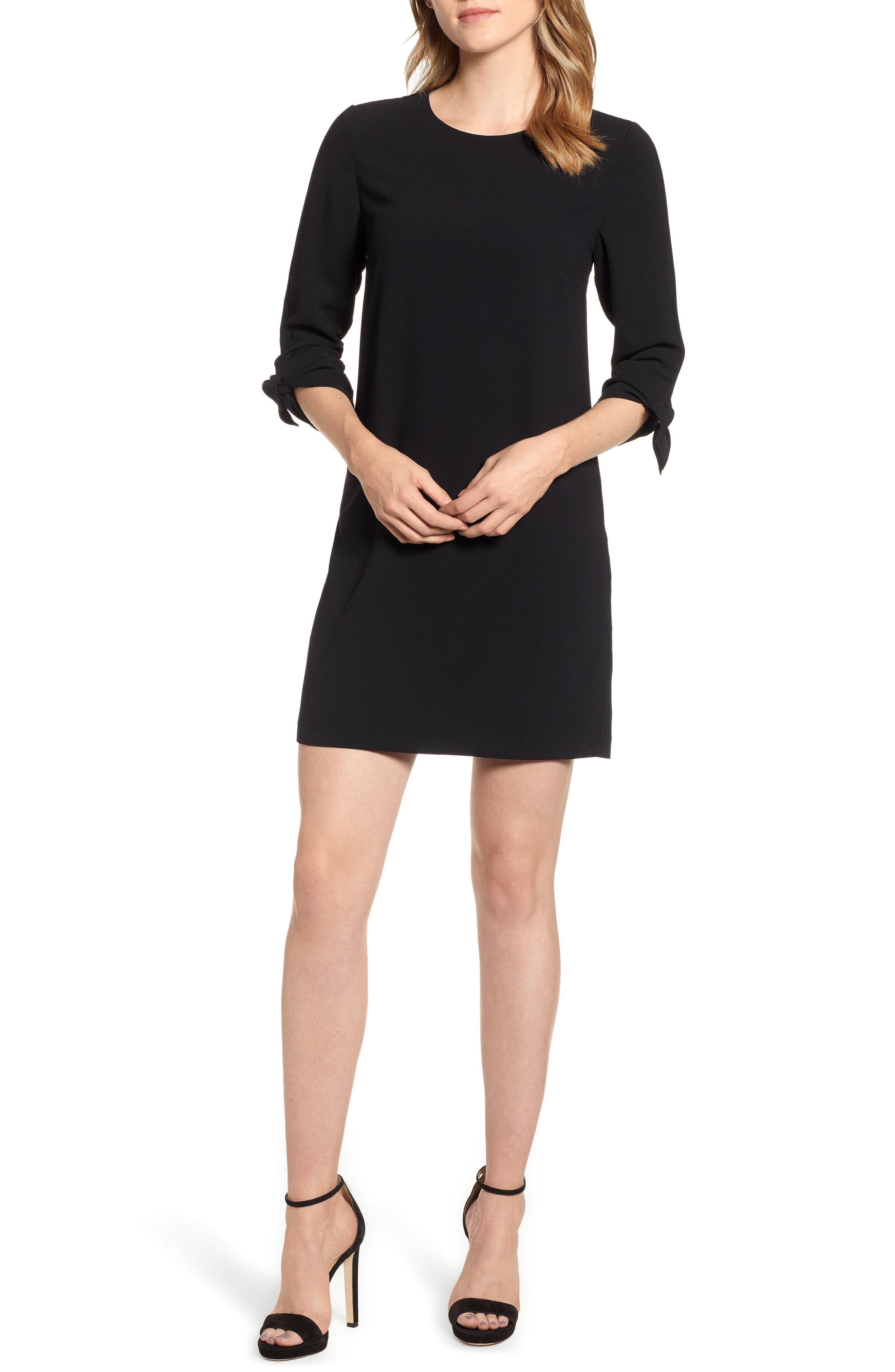 de53f83fd59bc Lyst - Cece Tie Sleeve Shift Dress in Black