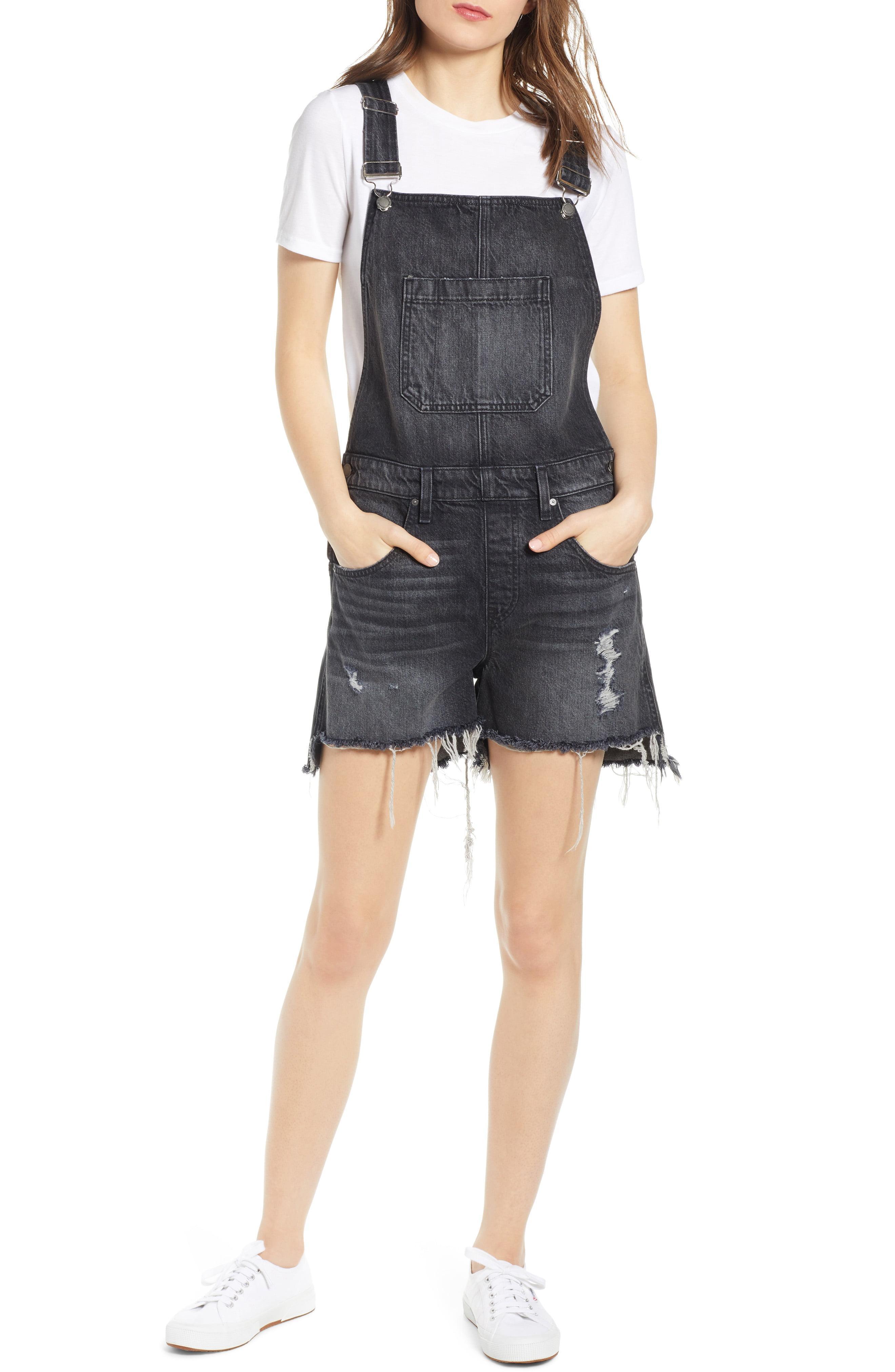 1f7d84d80 Lyst - Hudson Jeans Sloane Ripped Short Overalls in Black