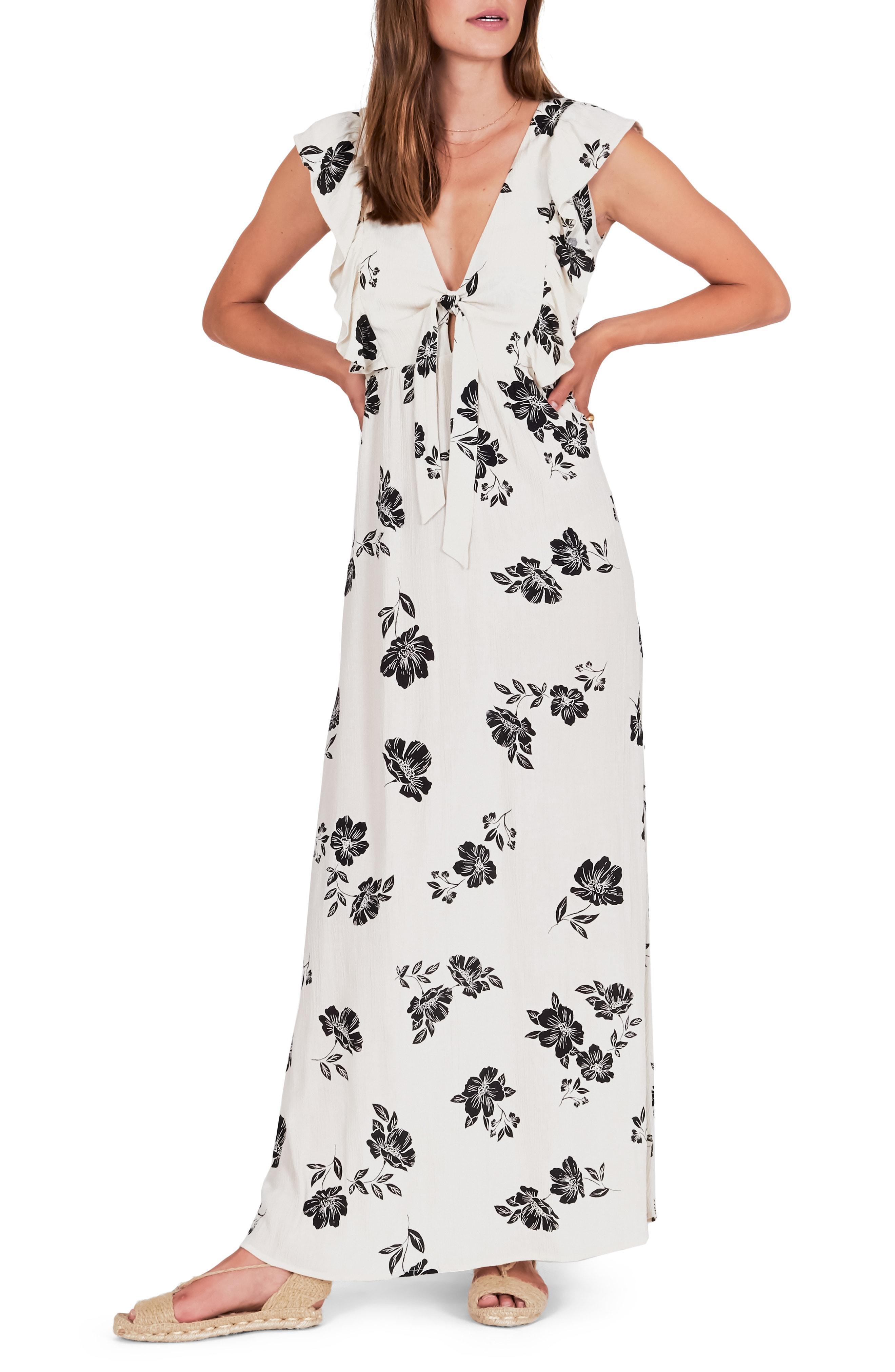 3f2547066f3ee Lyst - Amuse Society Carolina Maxi Dress in White