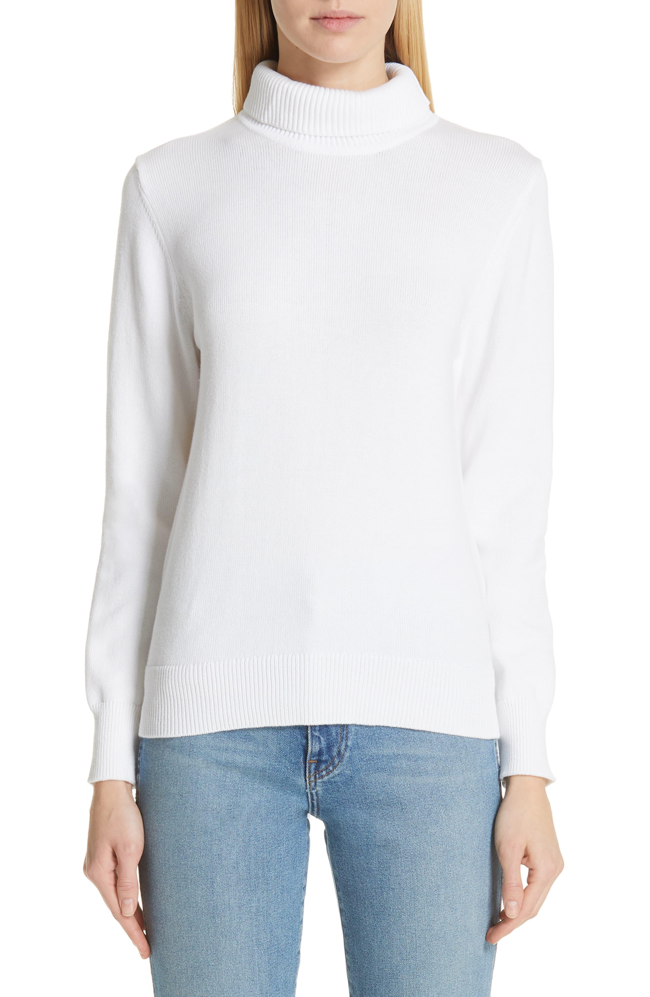 e4686efd5740cc Lyst - Simon Miller Doria Rib Turtleneck Sweater in White