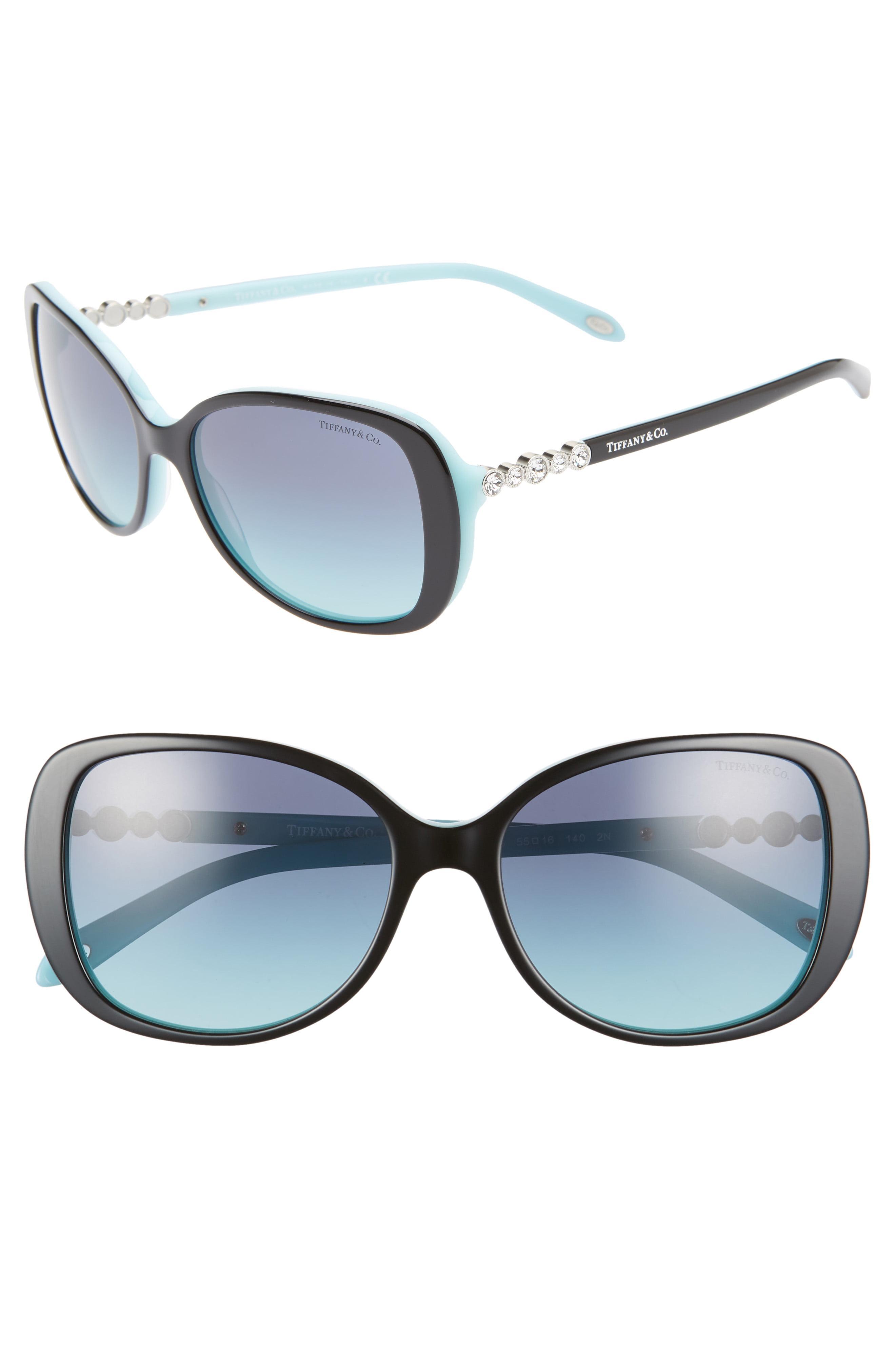 654a0b91b1f Lyst - Tiffany   Co. 55mm Gradient Butterfly Sunglasses in Blue