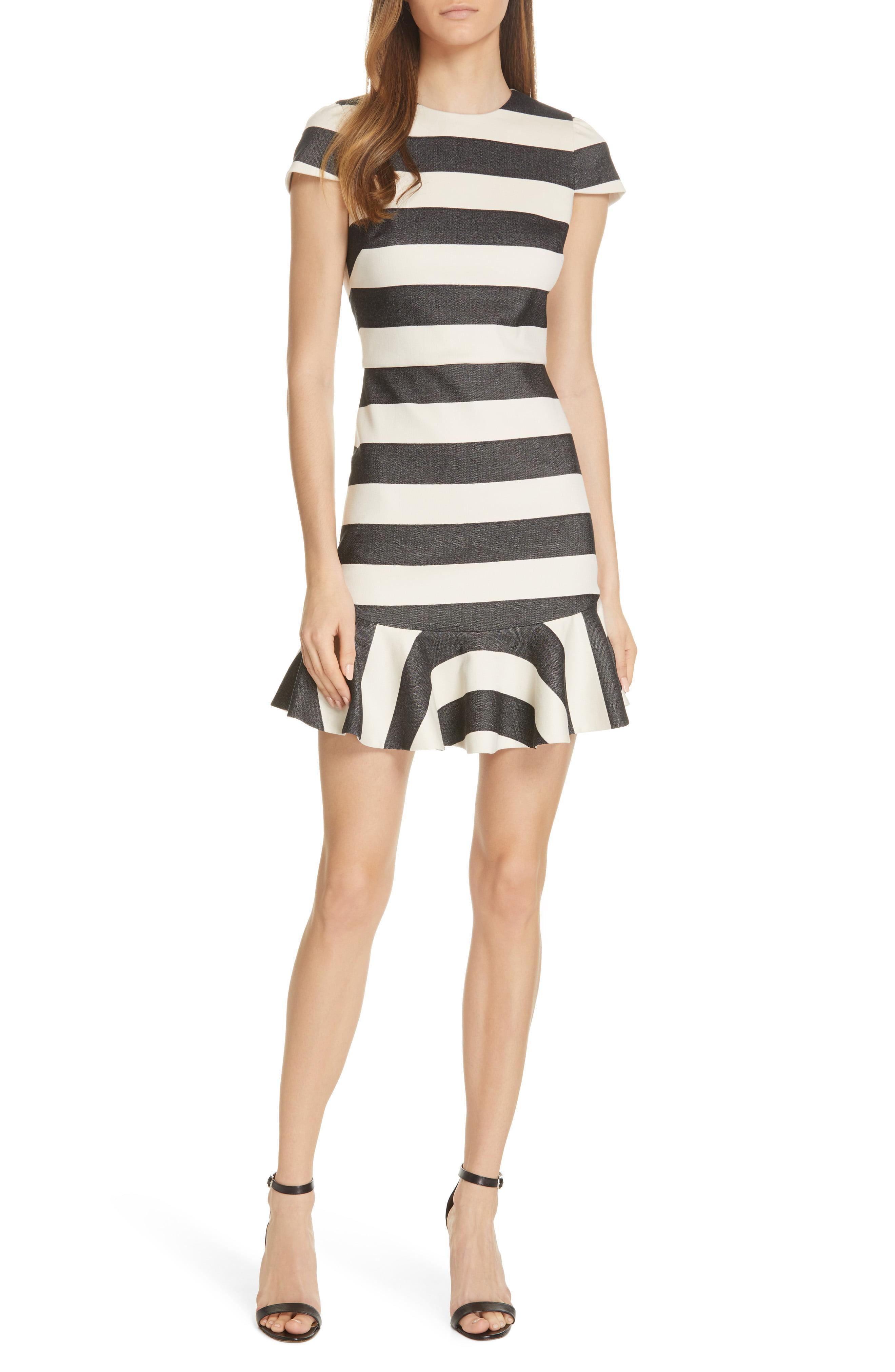 Herringbone Stripe Dress