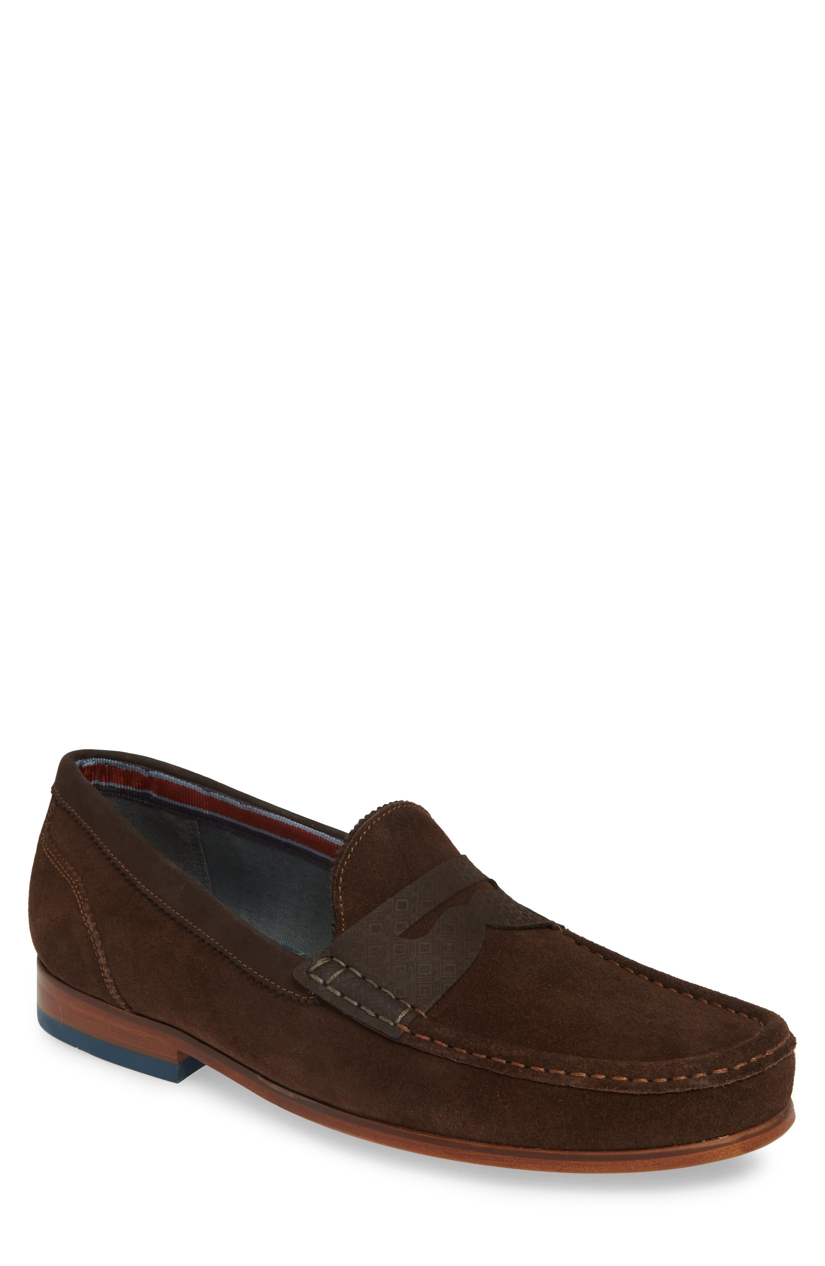 Ted Baker Xapon Penny Loafer in Brown for Men - Lyst