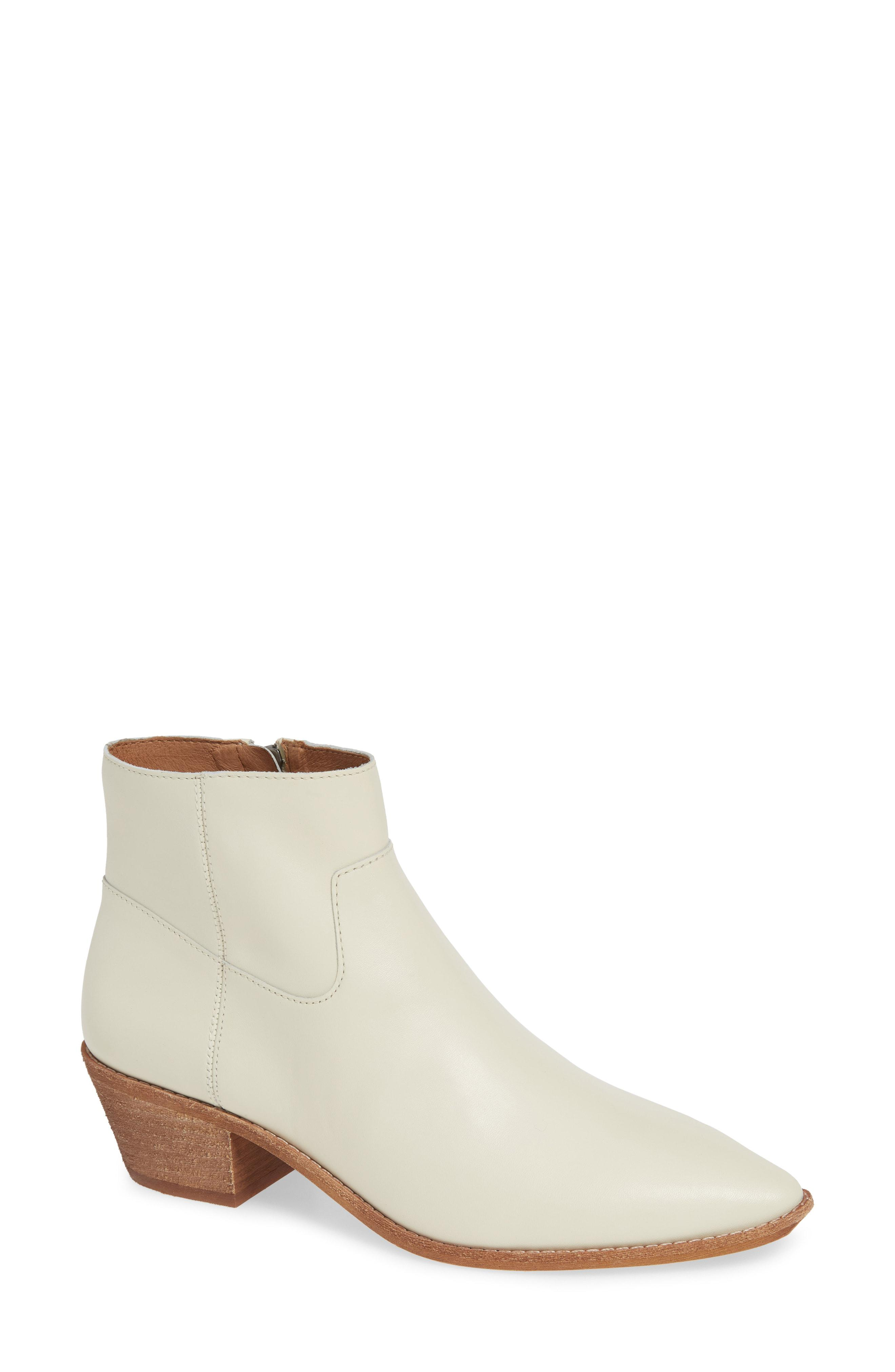 Madewell The Charley Boot in Ivory