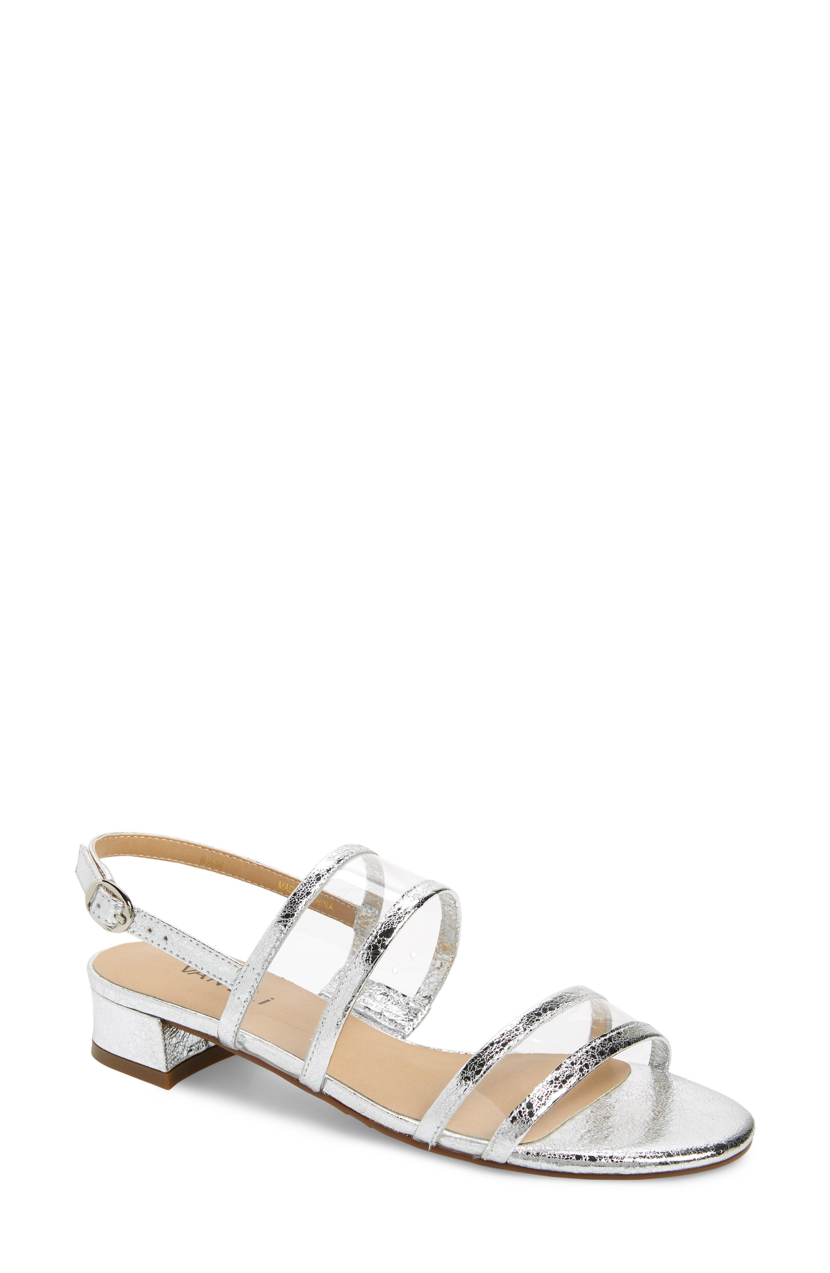 ea1d23414 Lyst - Vaneli Ulcie Transparent Sandal in Metallic