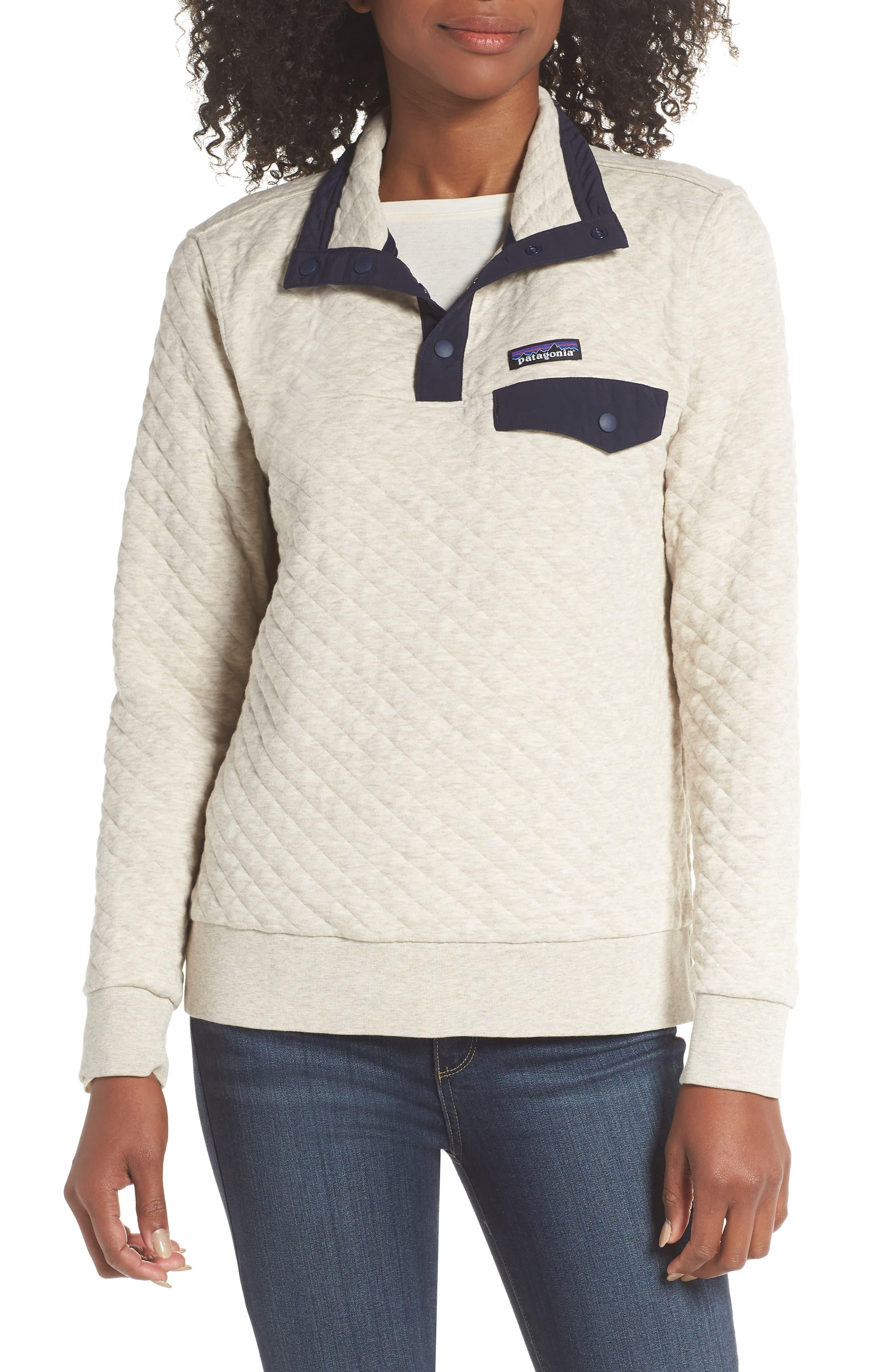 Patagonia Snap T Quilted Pullover In White Lyst