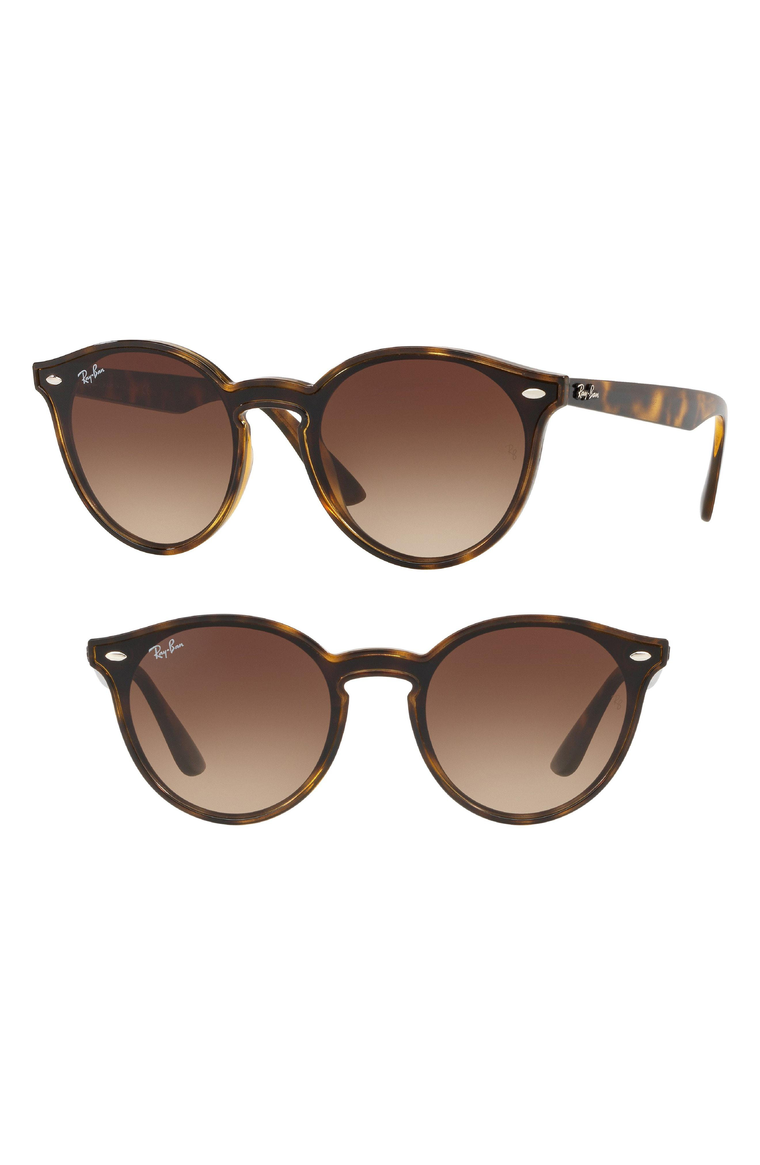 7b37e72675 Lyst - Ray-Ban Blaze 37mm Round Sunglasses - in Brown for Men