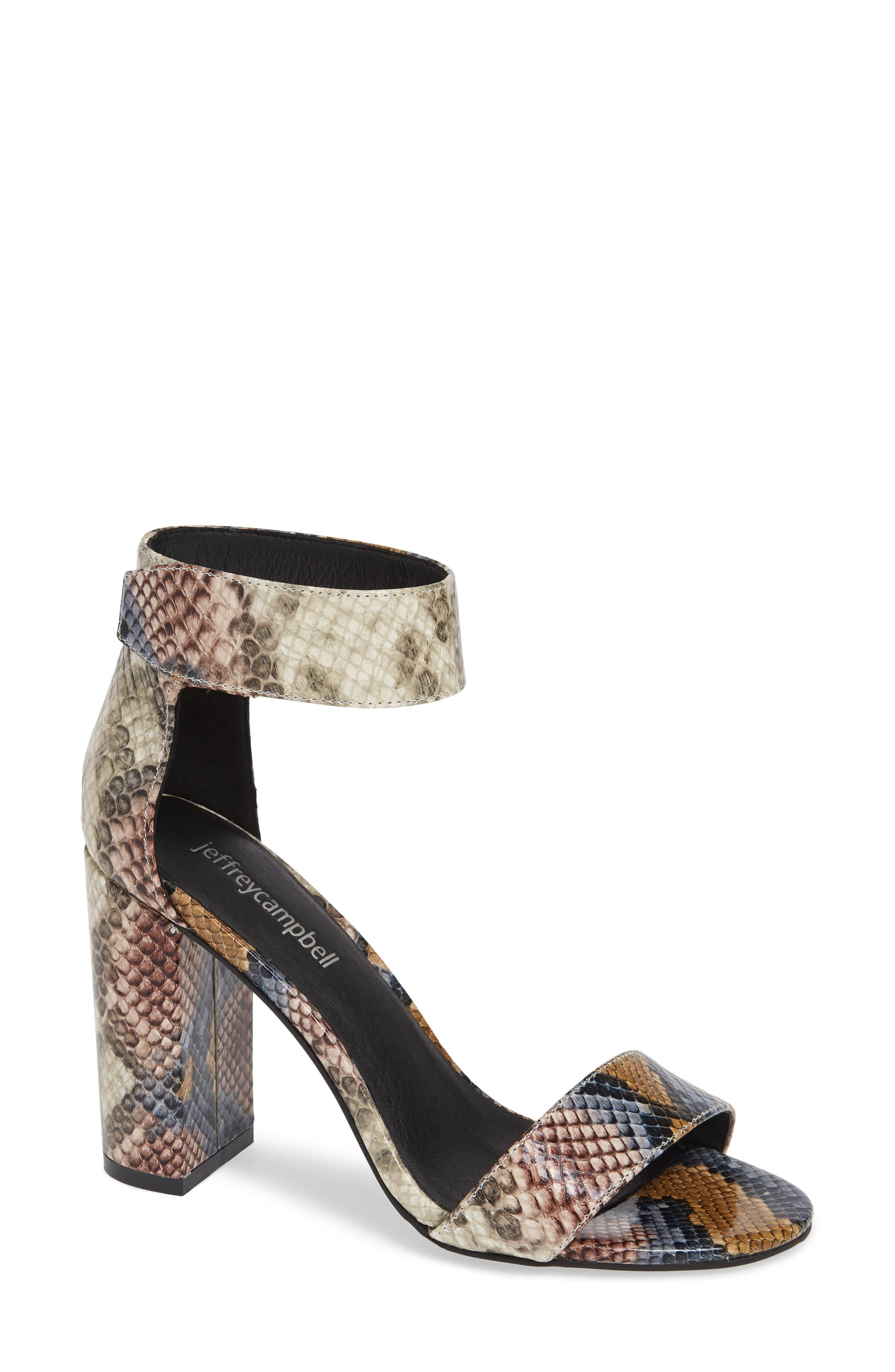 Jeffrey Campbell Lindsay Ankle Strap Sandal In Gray Lyst