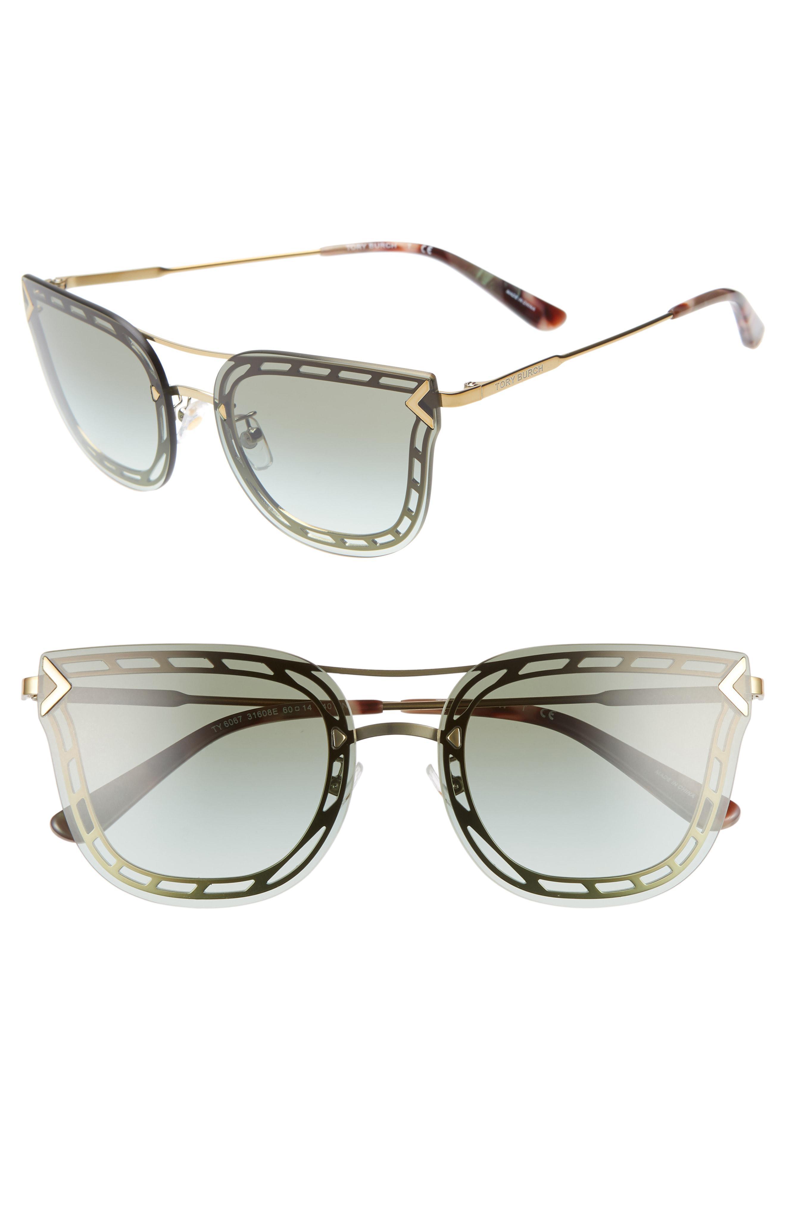 a28e4d1588fb4 Tory Burch - Gray T Wire 60mm Cat Eye Sunglasses - Lyst. View fullscreen
