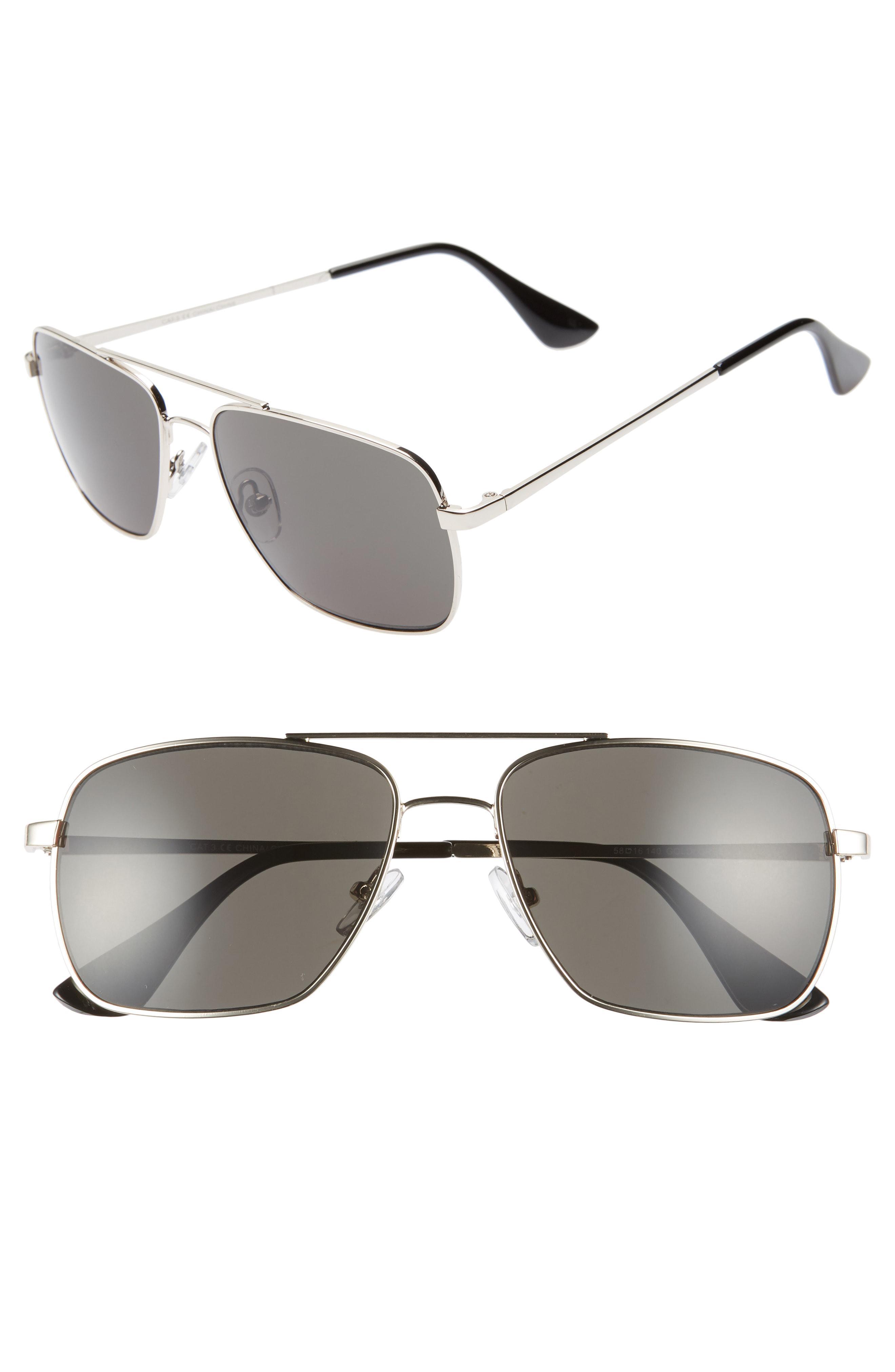 5268c22d71c Lyst - Nordstrom 1901 Taylor 58mm Aviator Sunglasses - in Metallic ...