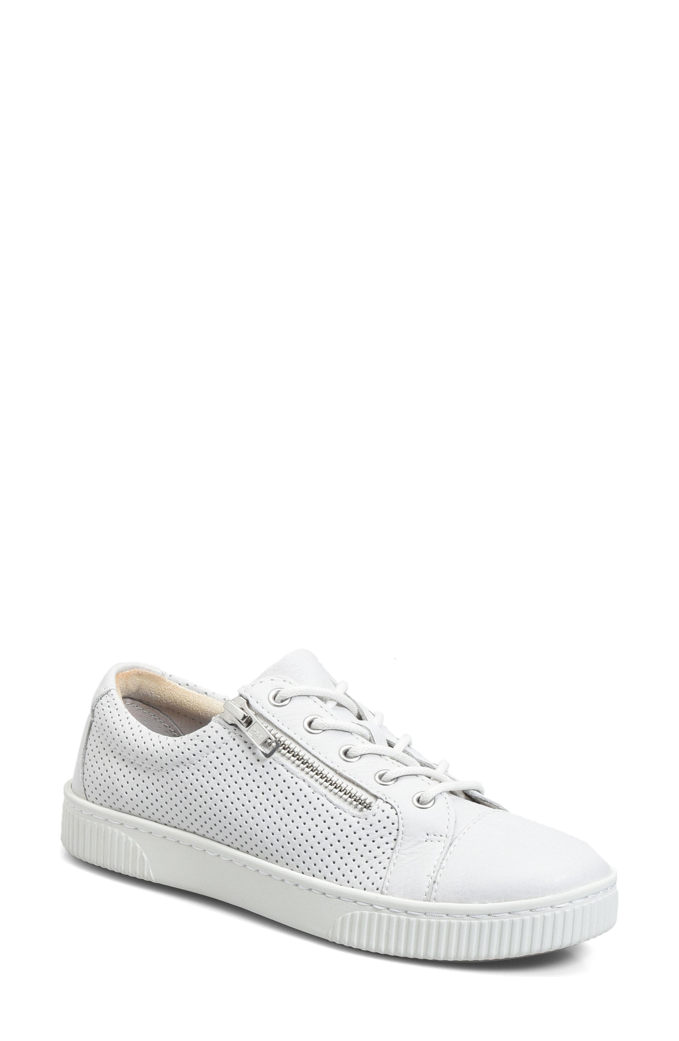 3d641a0ad7f Lyst - Born B rn Tamara Perforated Sneaker in White
