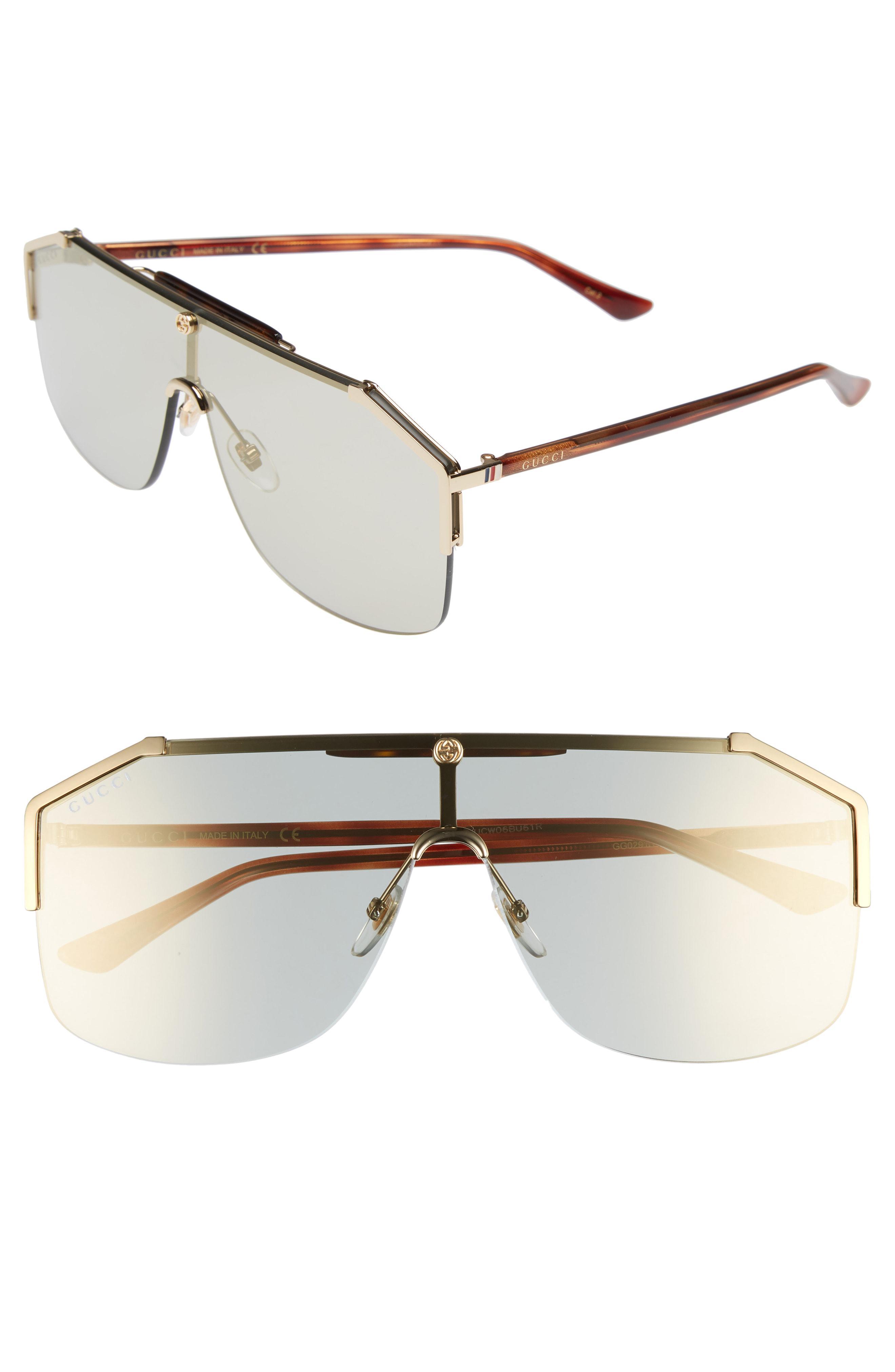 4055760f8 Lyst - Gucci Retro Web Shield 62mm Sunglasses - for Men