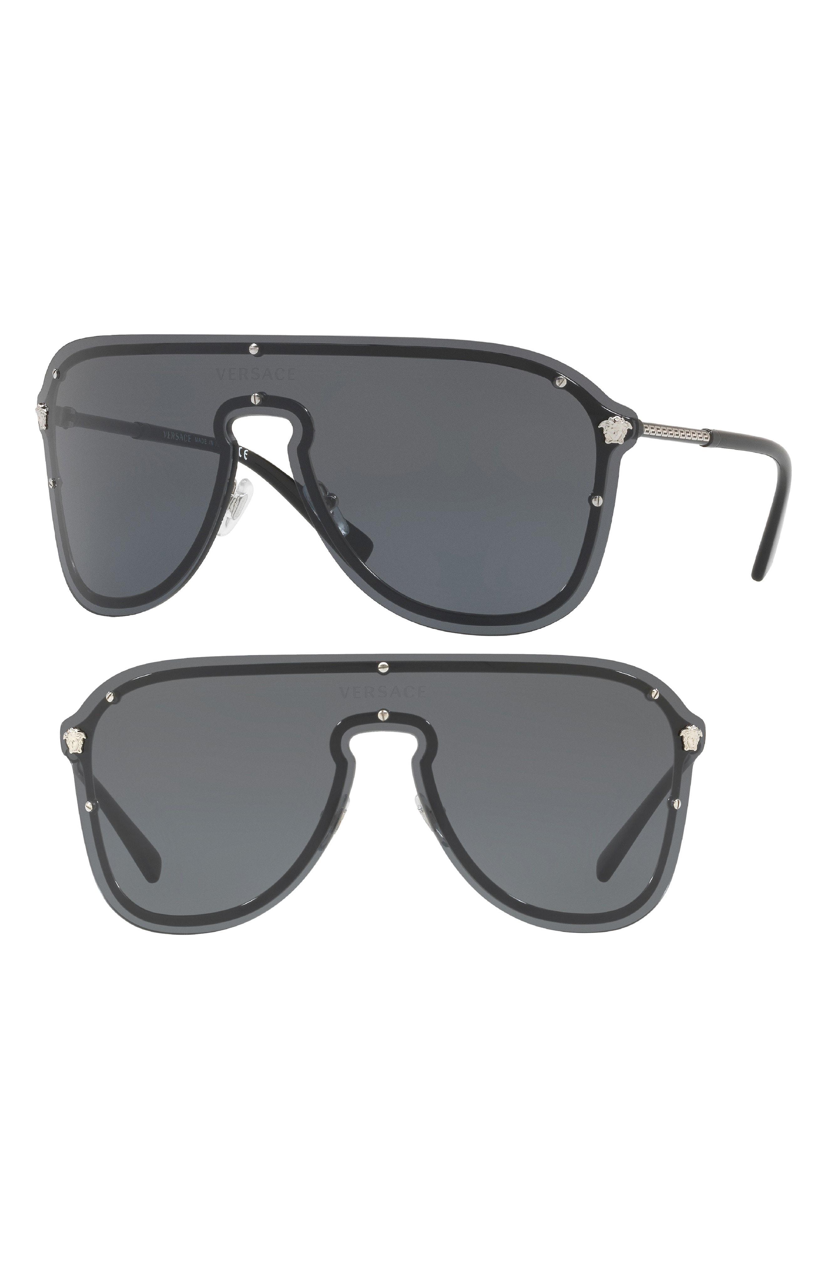 cc0baa7072b64 Lyst - Versace 144mm Shield Sunglasses - in Gray