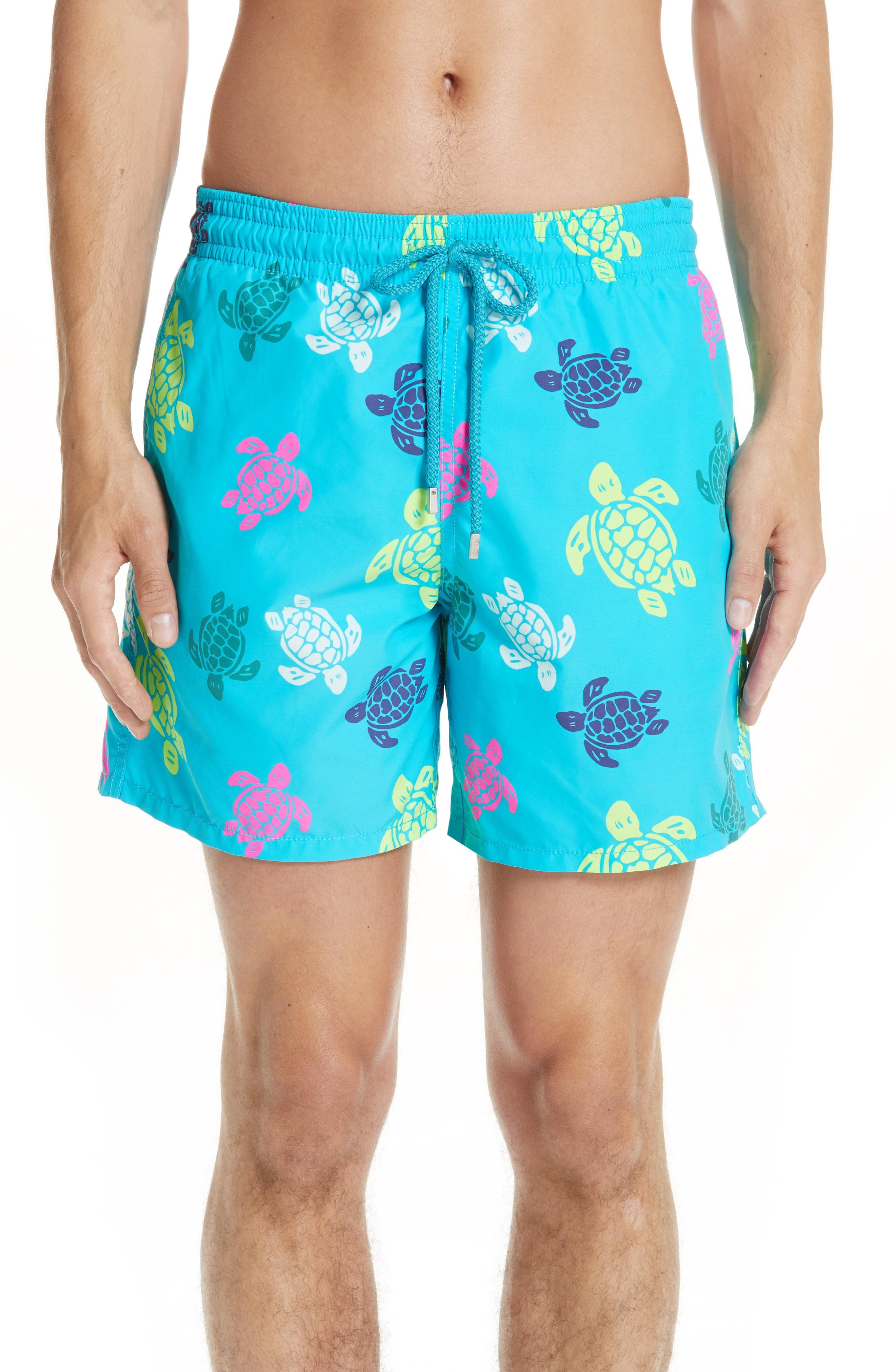 e8e0abb135 Lyst - Vilebrequin Turtle Print Swim Trunks in Blue for Men