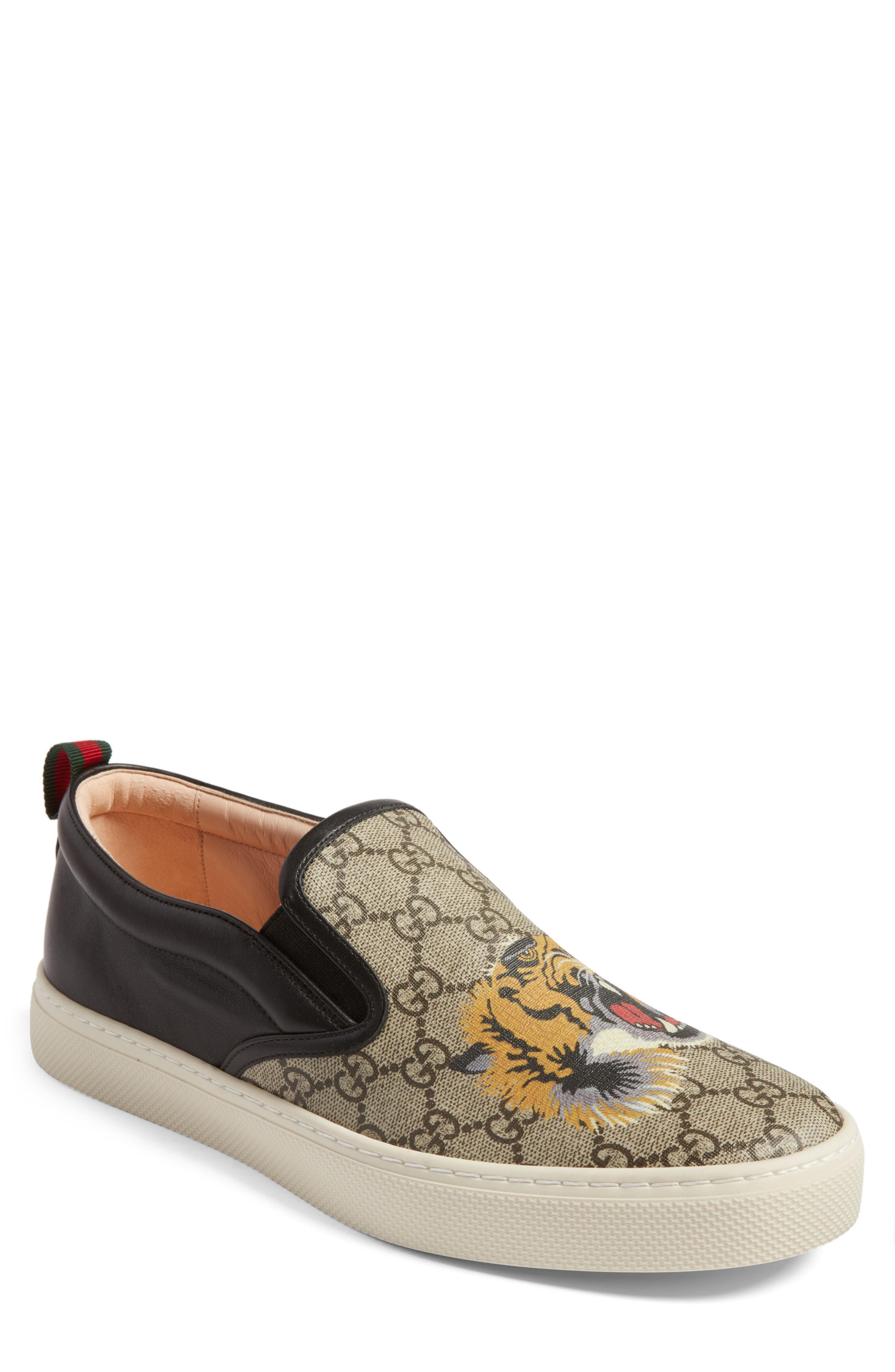 947cd0eb285 Lyst - Gucci Dublin Slip-on Sneaker in Brown for Men