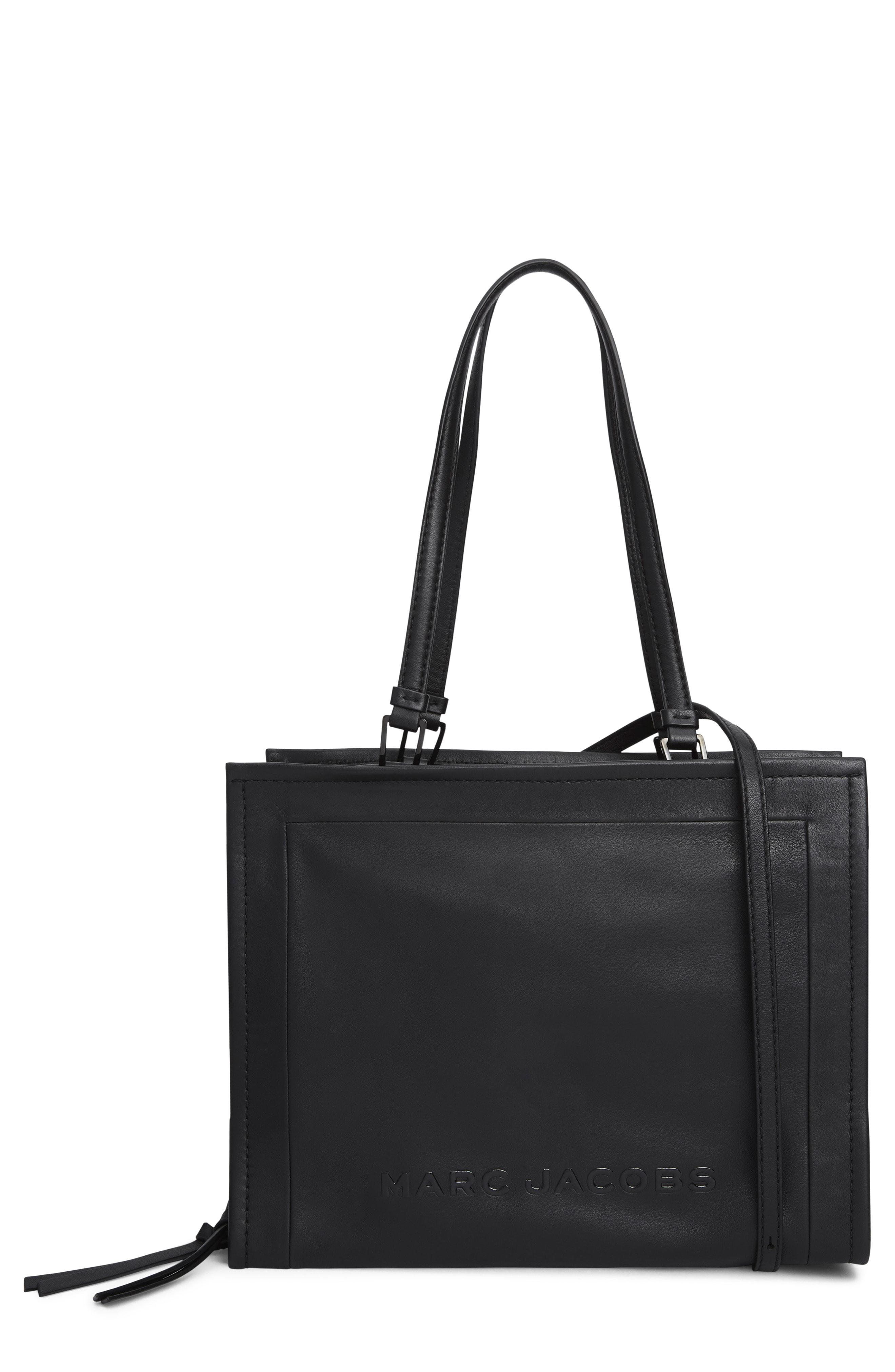 df1d71e1b5df Lyst - Marc Jacobs The Box 33 Leather Satchel in Black