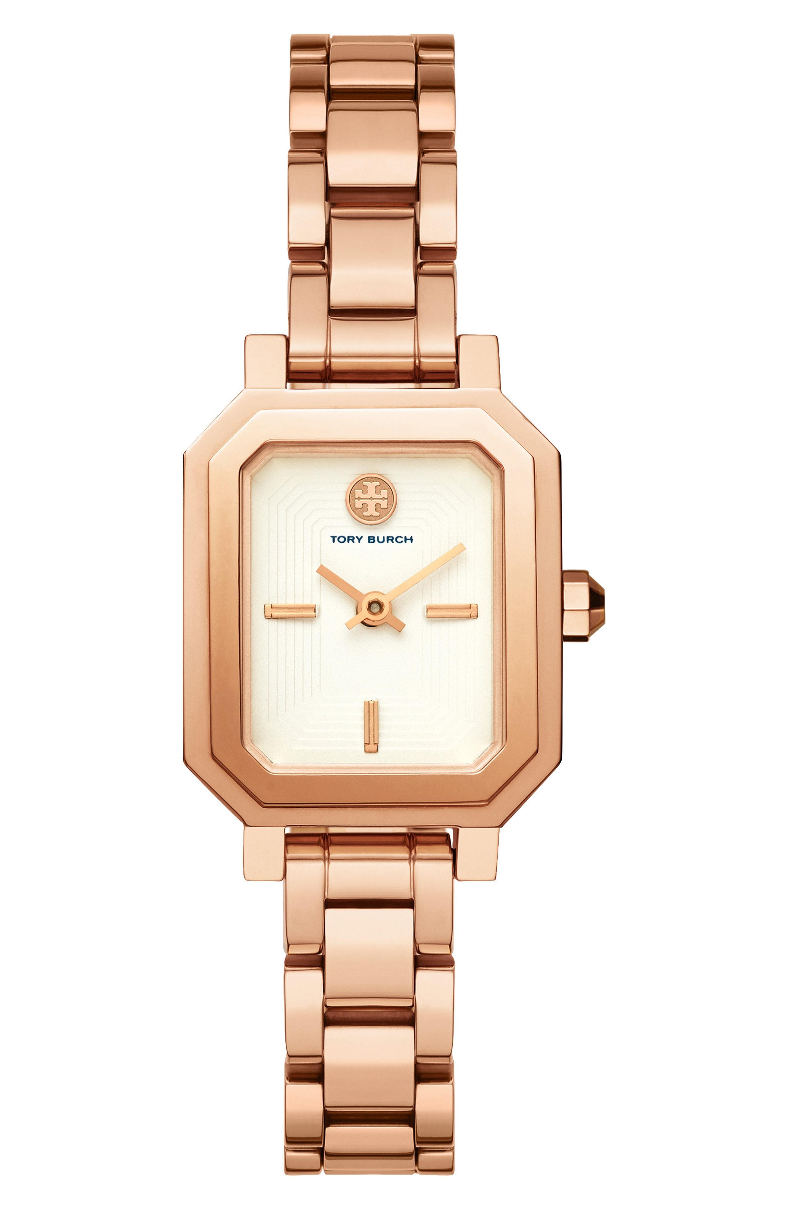 1461cf546dc Lyst - Tory Burch Robinson Wrap Bracelet Watch in Metallic