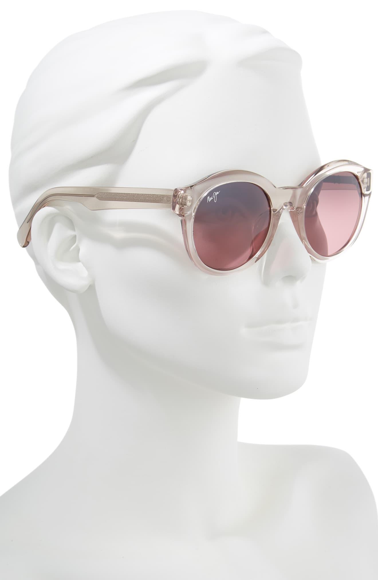 b87e32fef8 Maui Jim Jasmine 51mm Polarizedplus2 Round Sunglasses - Crystal Pink ...