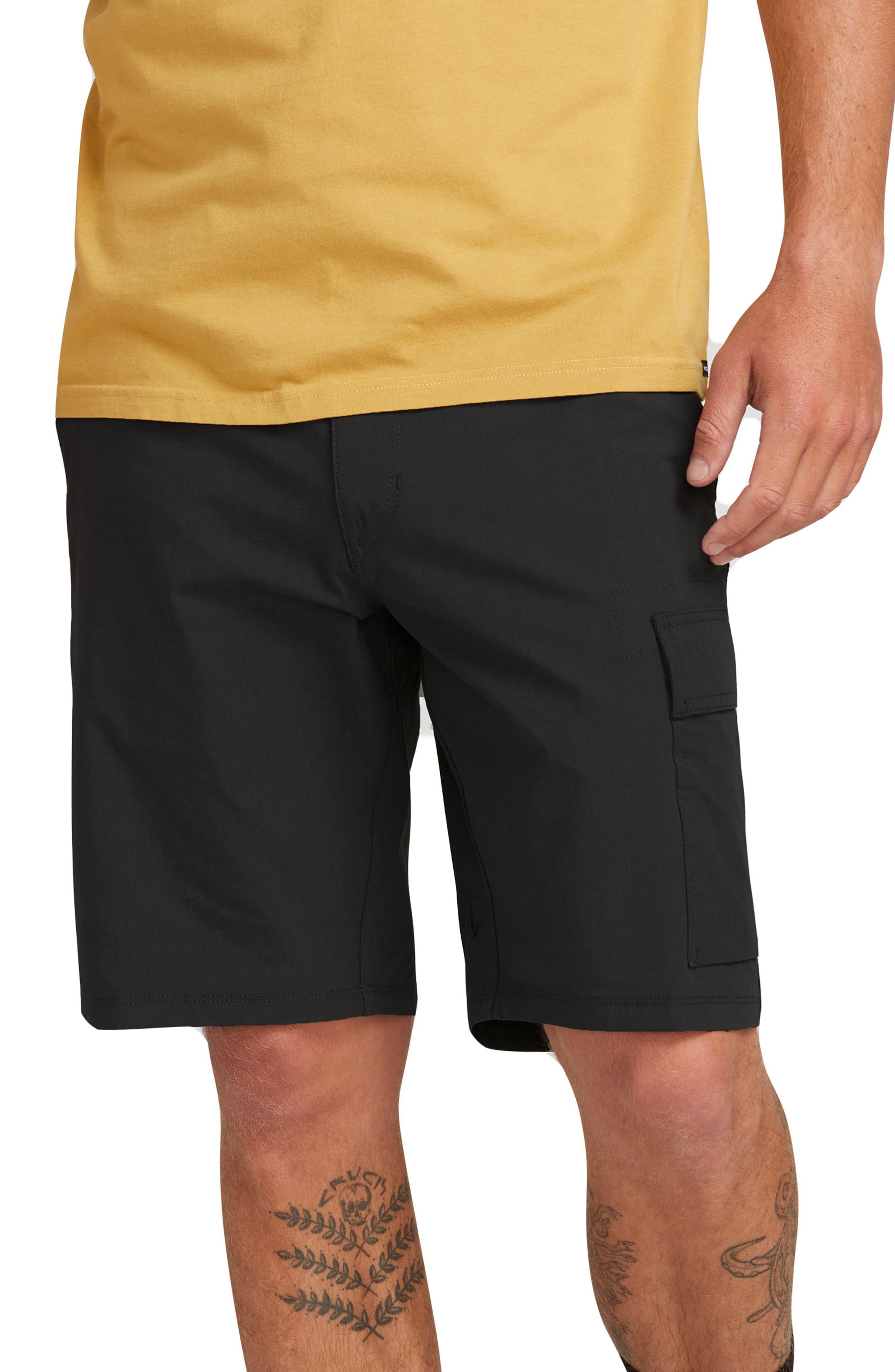 a05157683e Lyst - Volcom Yutes Surf N' Turf Hybrid Cargo Shorts in Black for Men