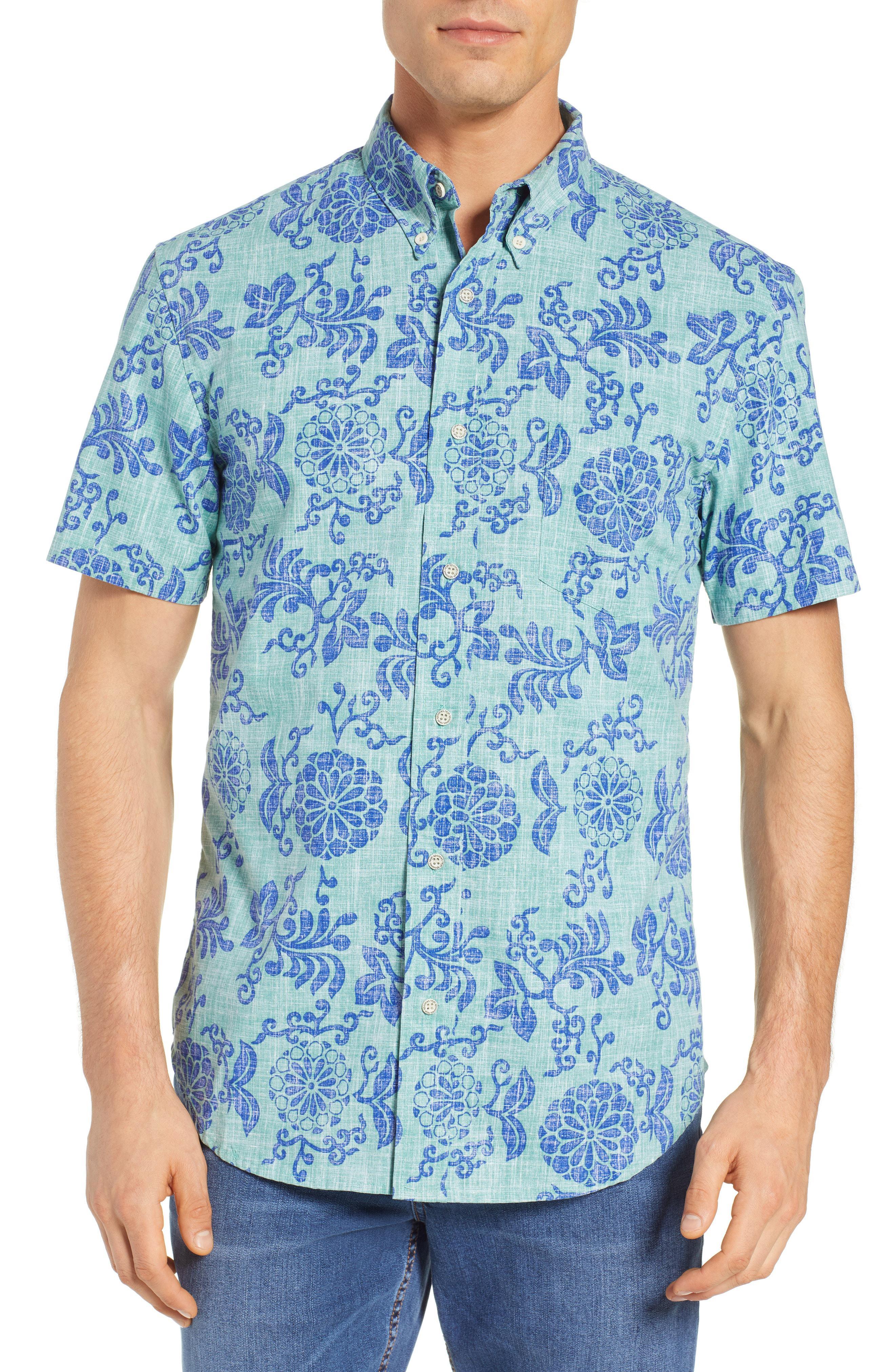 22d57a0e Lyst - Reyn Spooner Royal Chrysanthemums Regular Fit Sport Shirt in ...