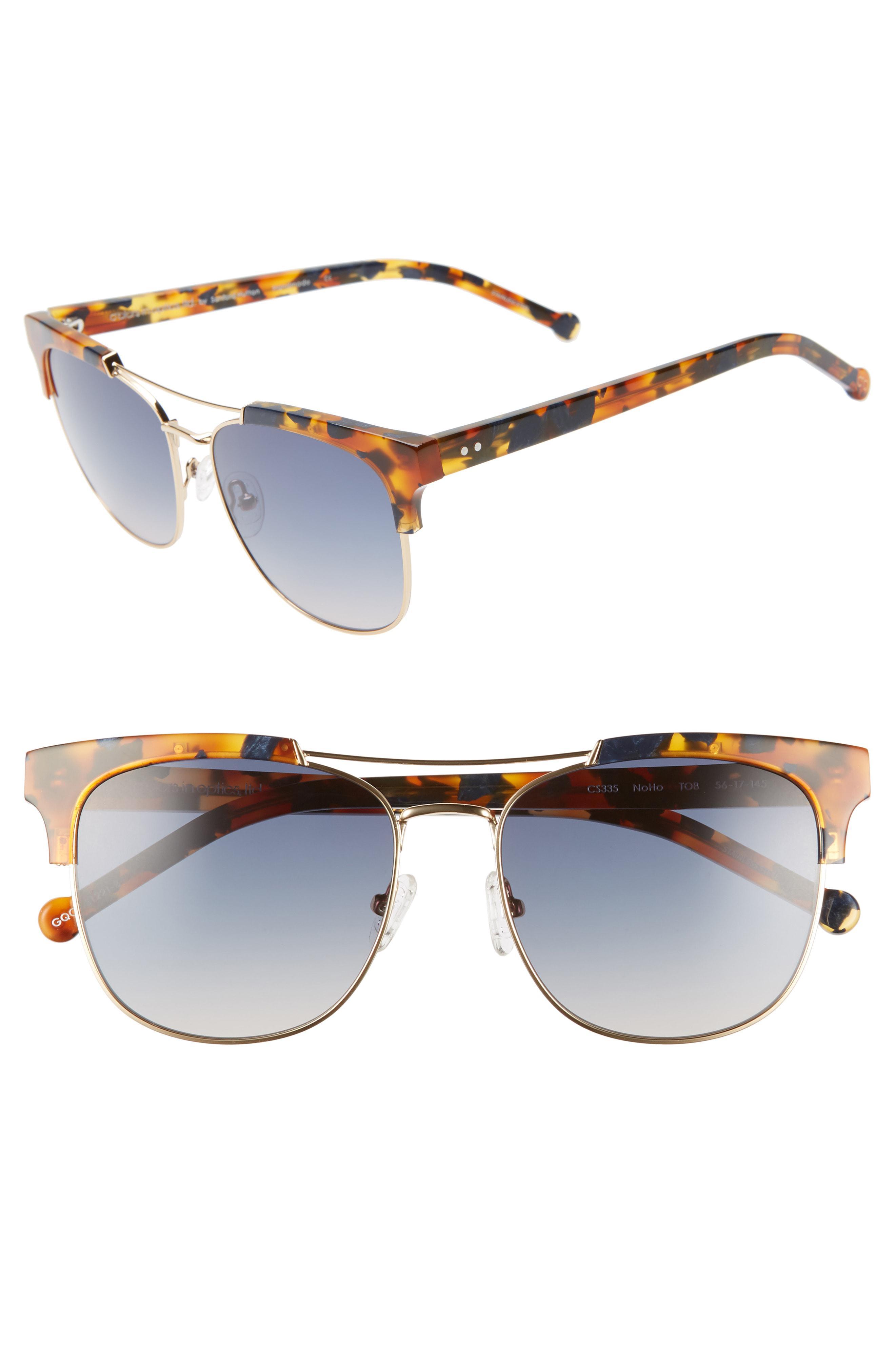 1ea4f54ad8e Lyst - Colors In Optics Noho 56mm Gradient Sunglasses in Blue