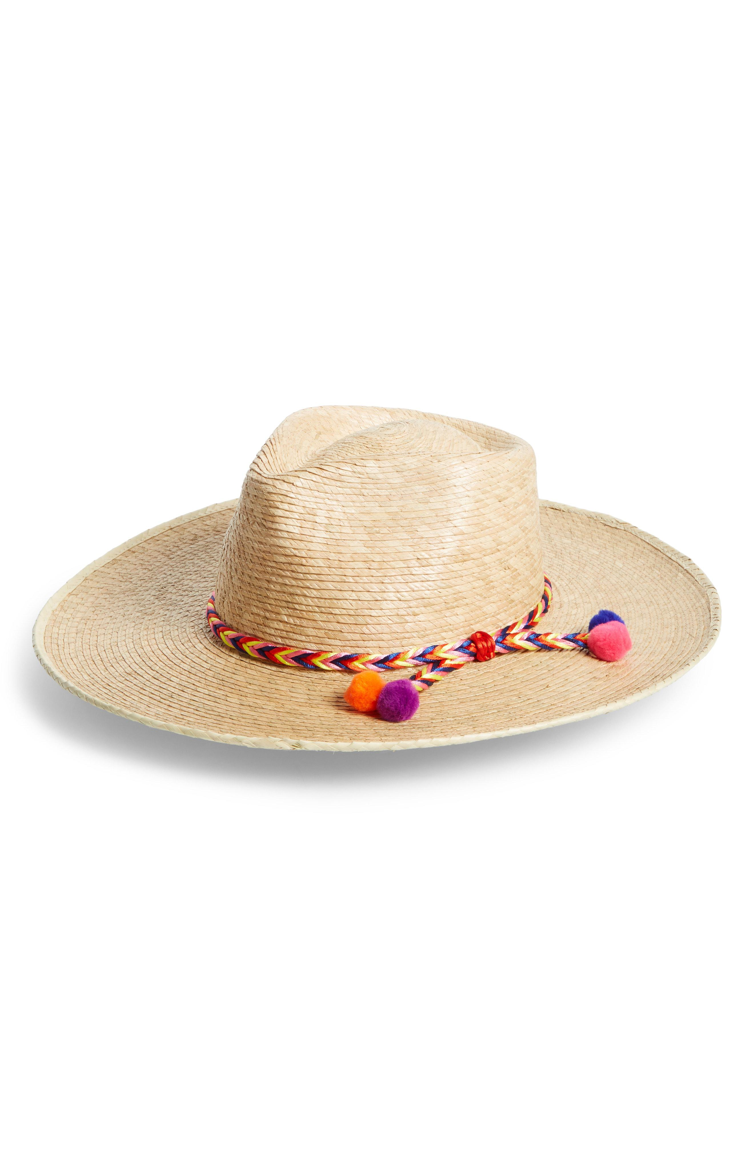 72d1f0e5037 Lyst - Brixton Joanna Palm Hat in Brown