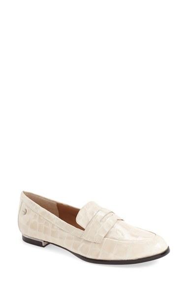 a346c34ba27 Lyst - Calvin Klein  celia  Penny Loafer in White