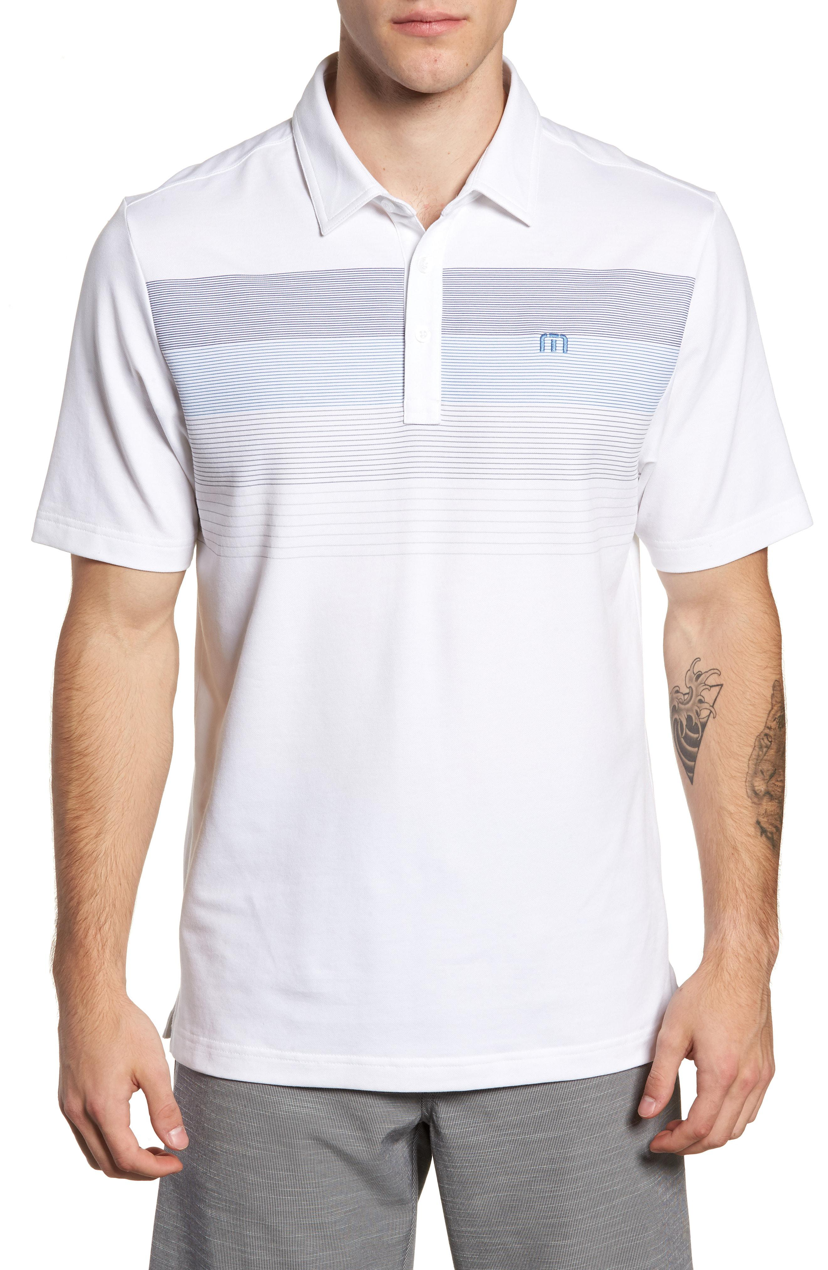 Lyst Travis Mathew Open To Buy Regular Fit Polo In White For Men