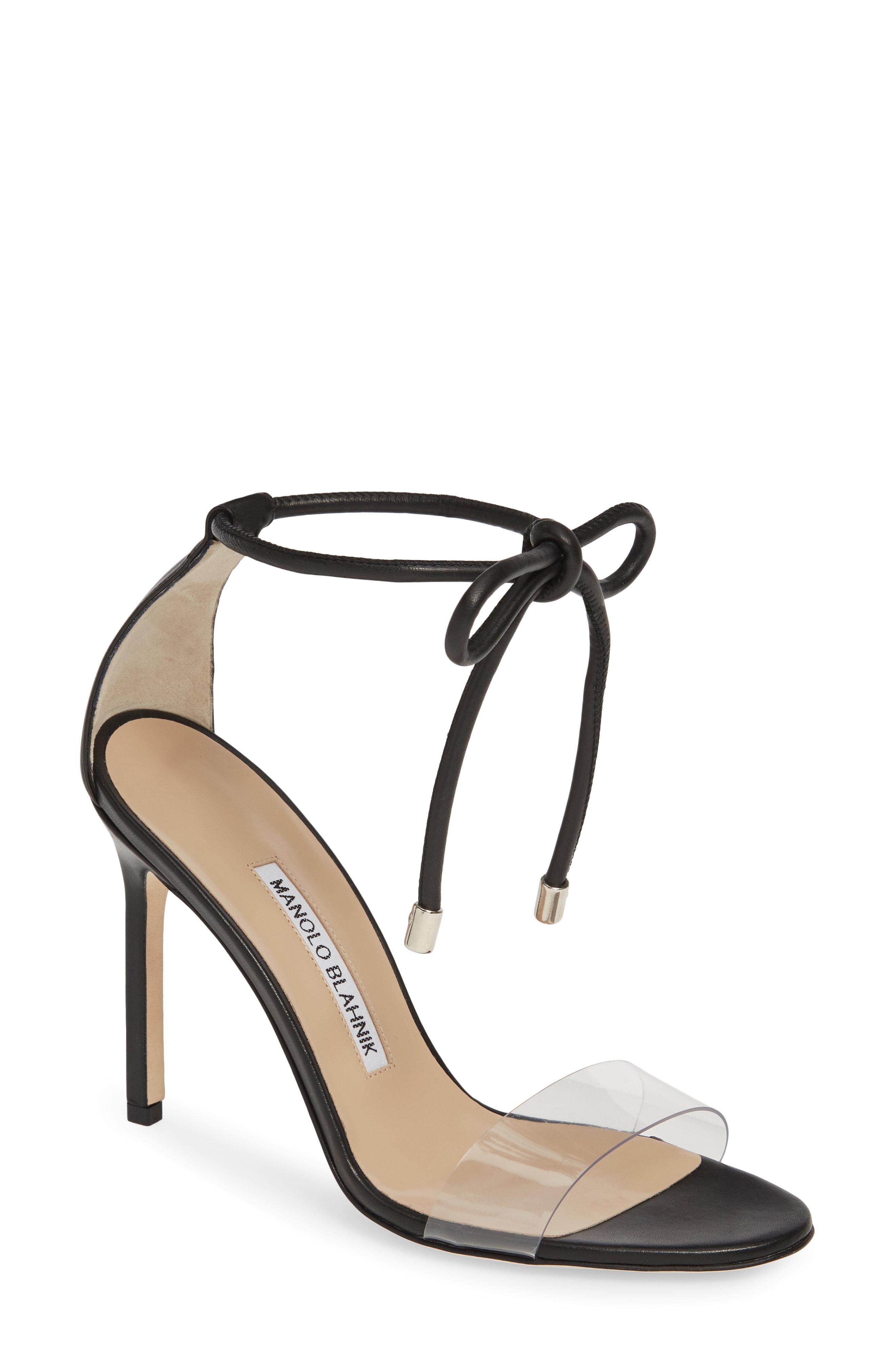 567cc9204195 Manolo Blahnik - Natural Estro Ankle Tie Sandal - Lyst. View fullscreen
