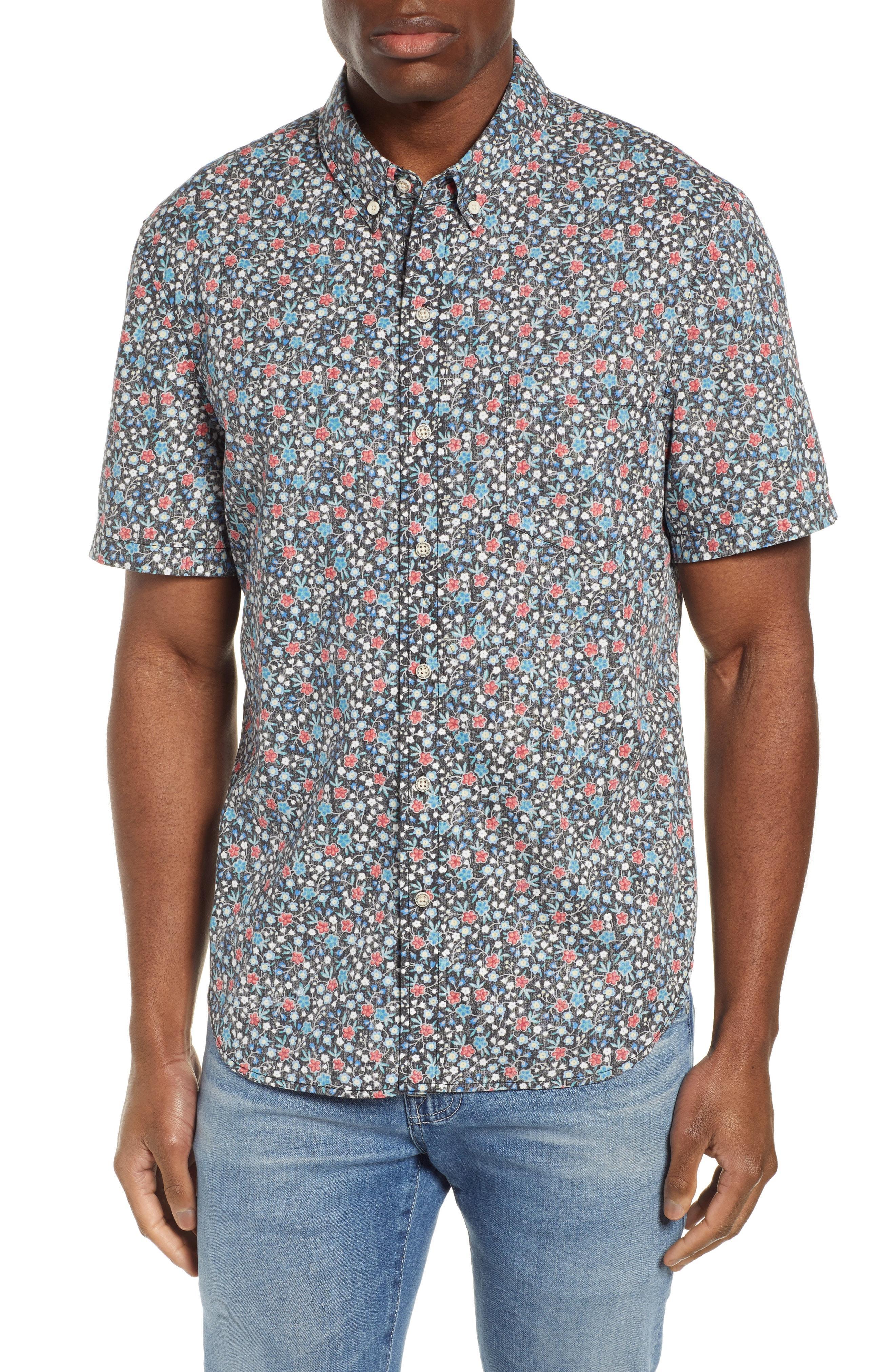4bf72365b24 Lyst - Reyn Spooner Retro Tailored Fit Sport Shirt in Blue for Men