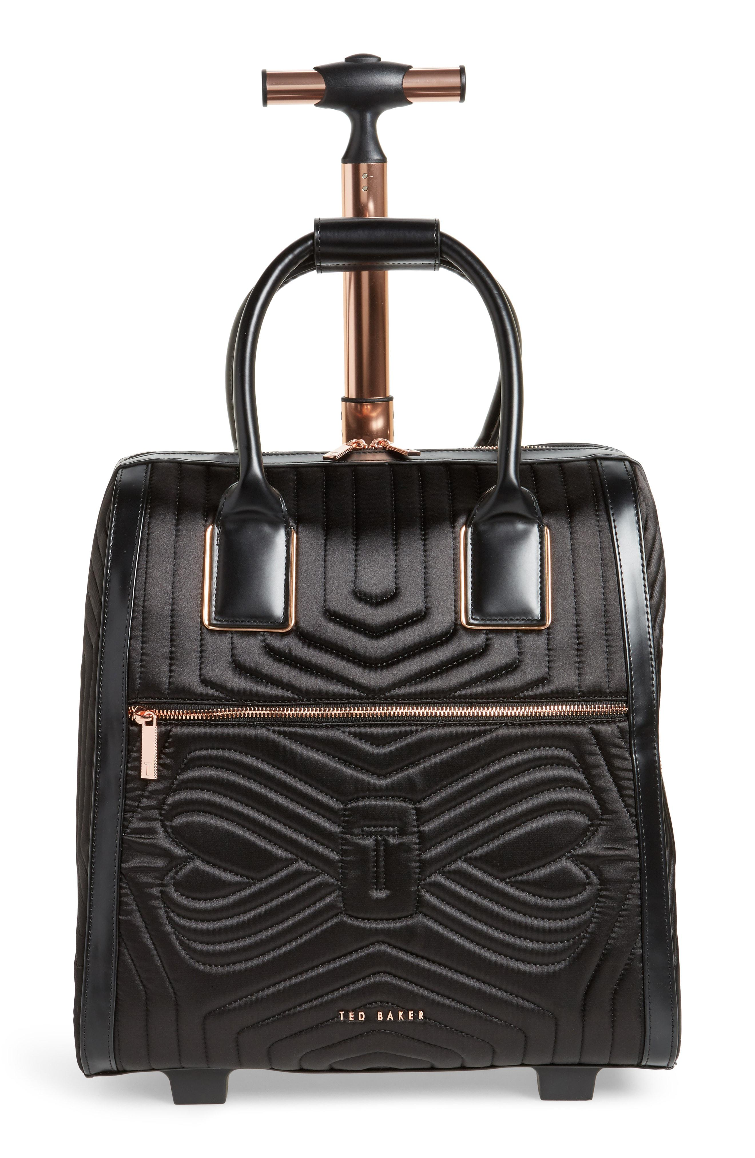 30f2fab4eccd7 Ted Baker - Black Anisee Quilted Wheeled Travel Bag - - Lyst. View  fullscreen