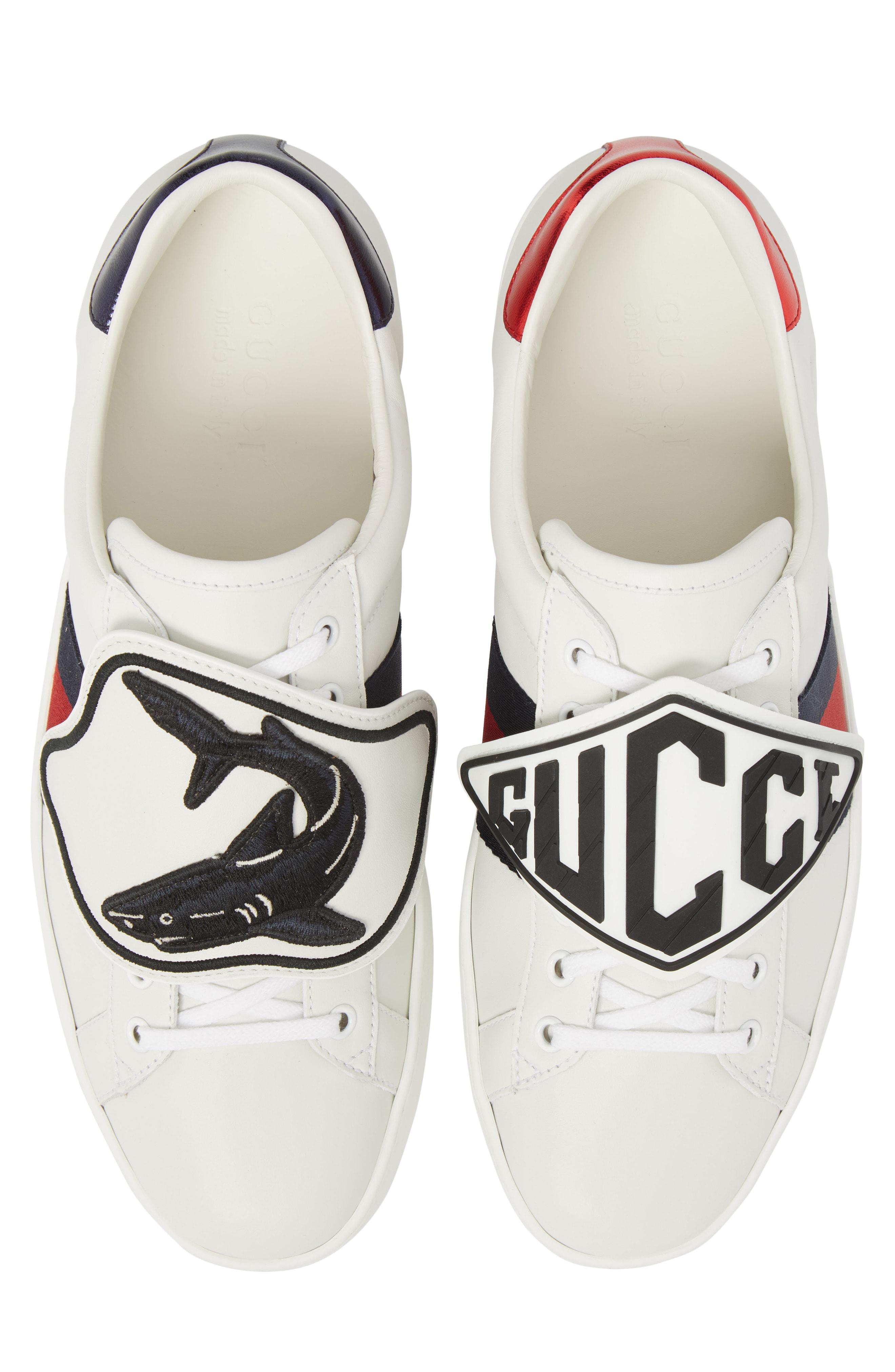 Gucci Leather New Ace Patch Sneaker in