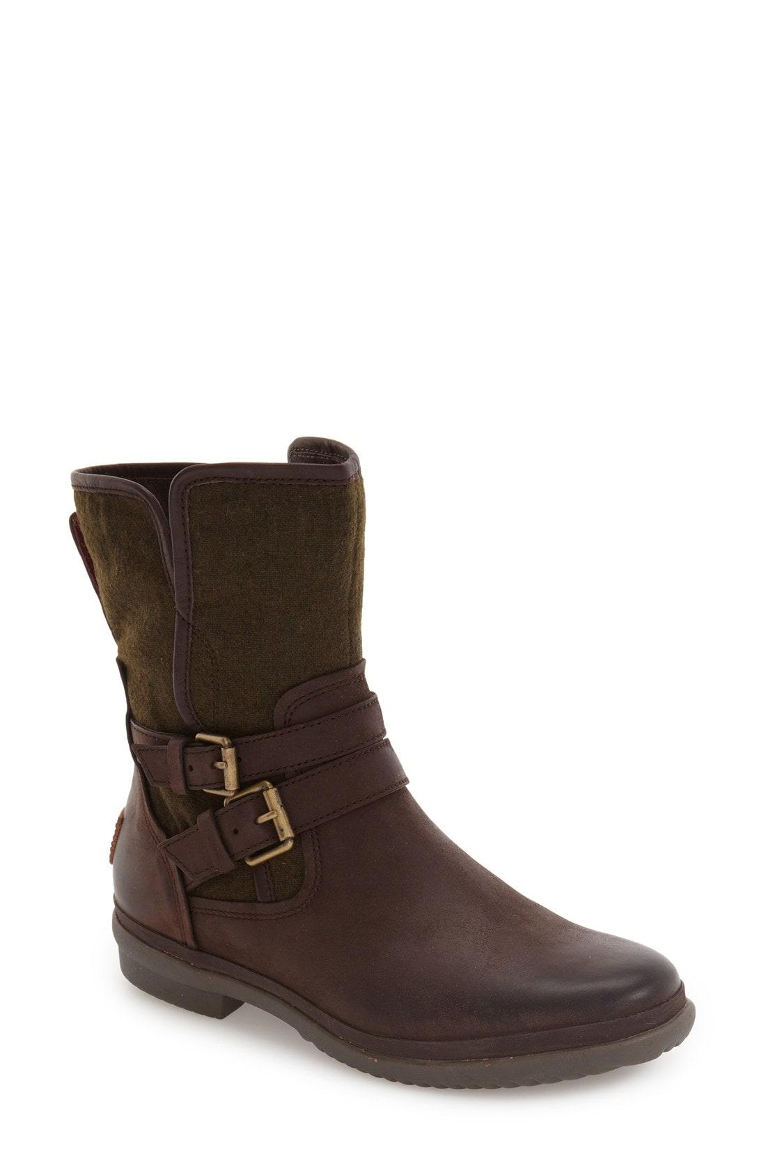 3aa529c0a43 UGG Ugg Simmens Waterproof Leather Boot in Brown - Lyst
