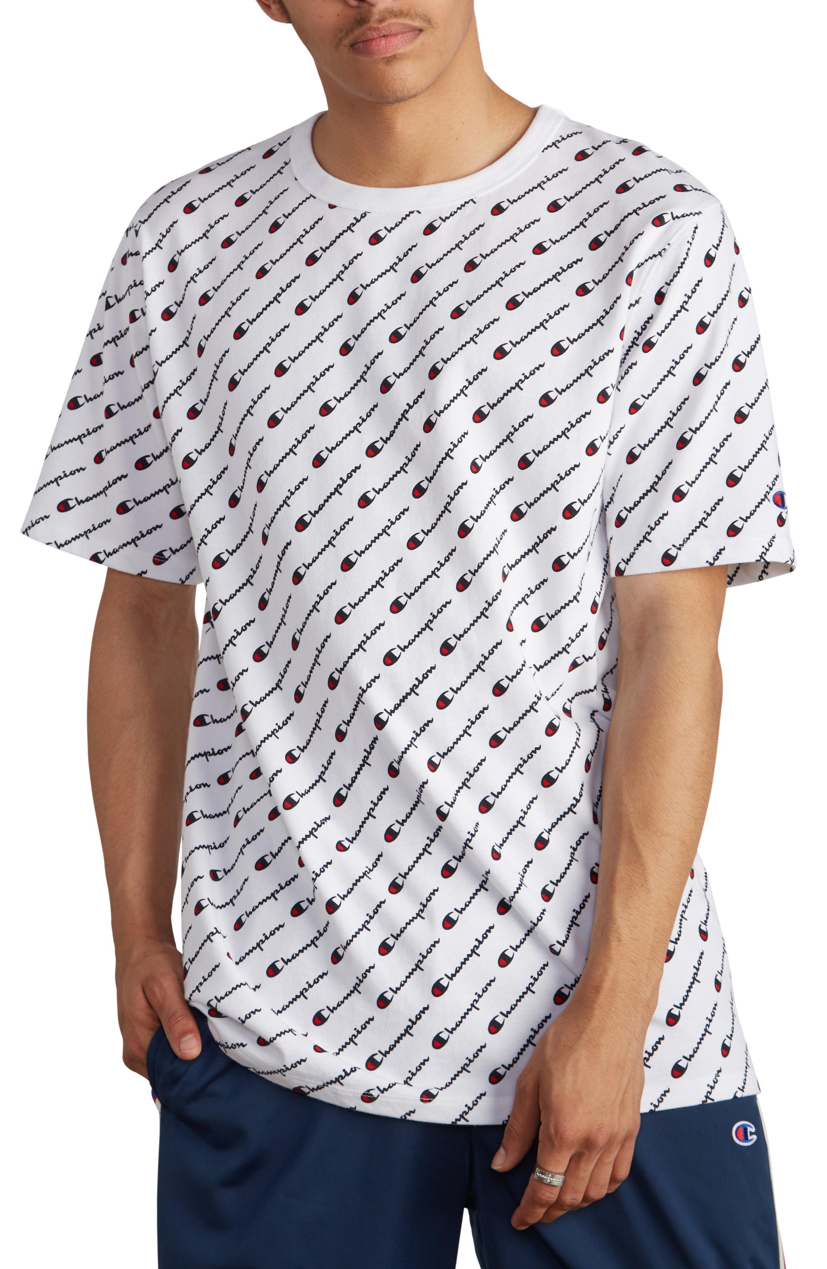 gorąca sprzedaż online najlepsza cena kody kuponów Allover Script Screen White Mens T-shirt
