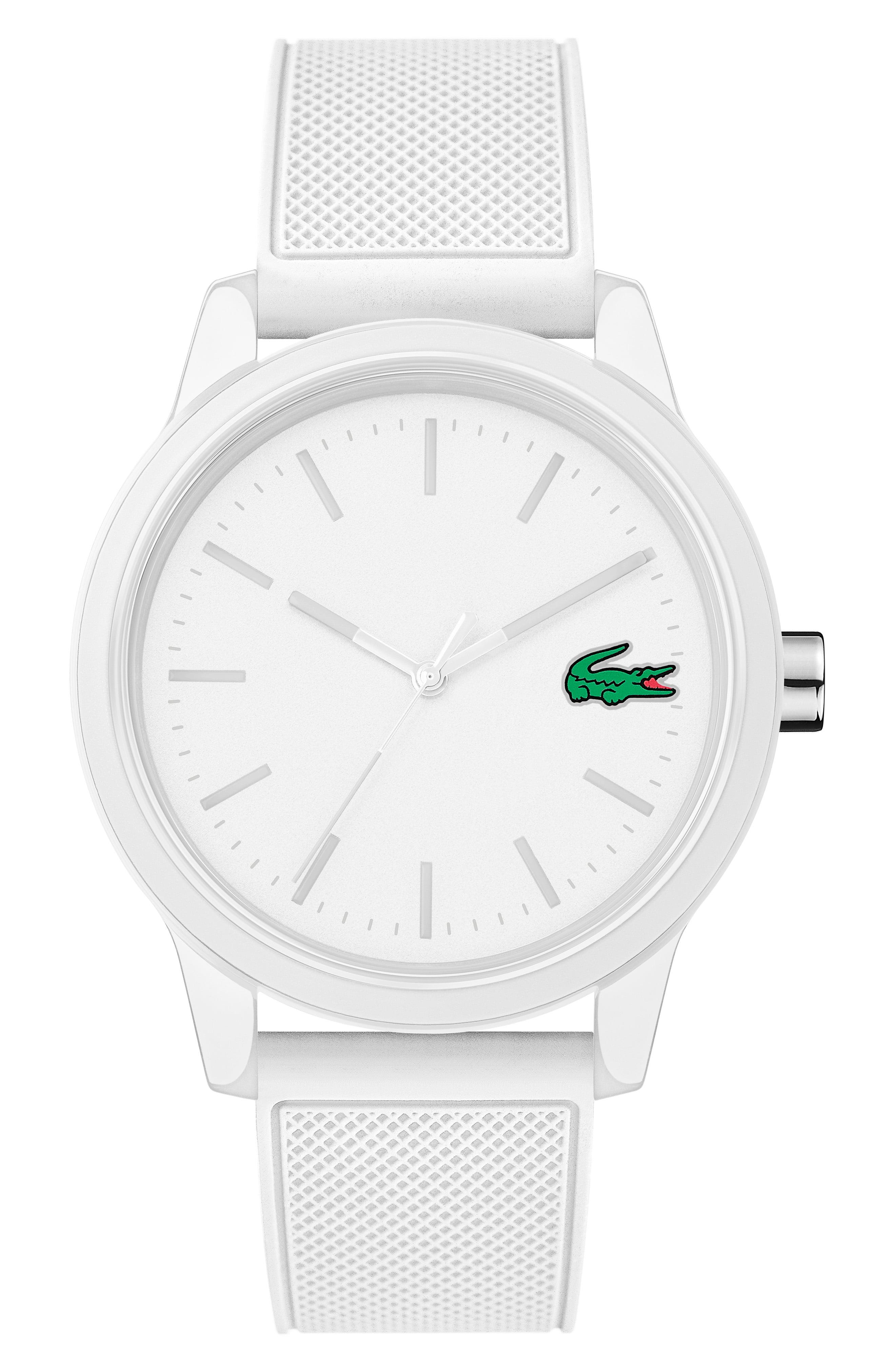 47e69ff2d4 Lyst - Lacoste 12.12 Rubber Strap Watch