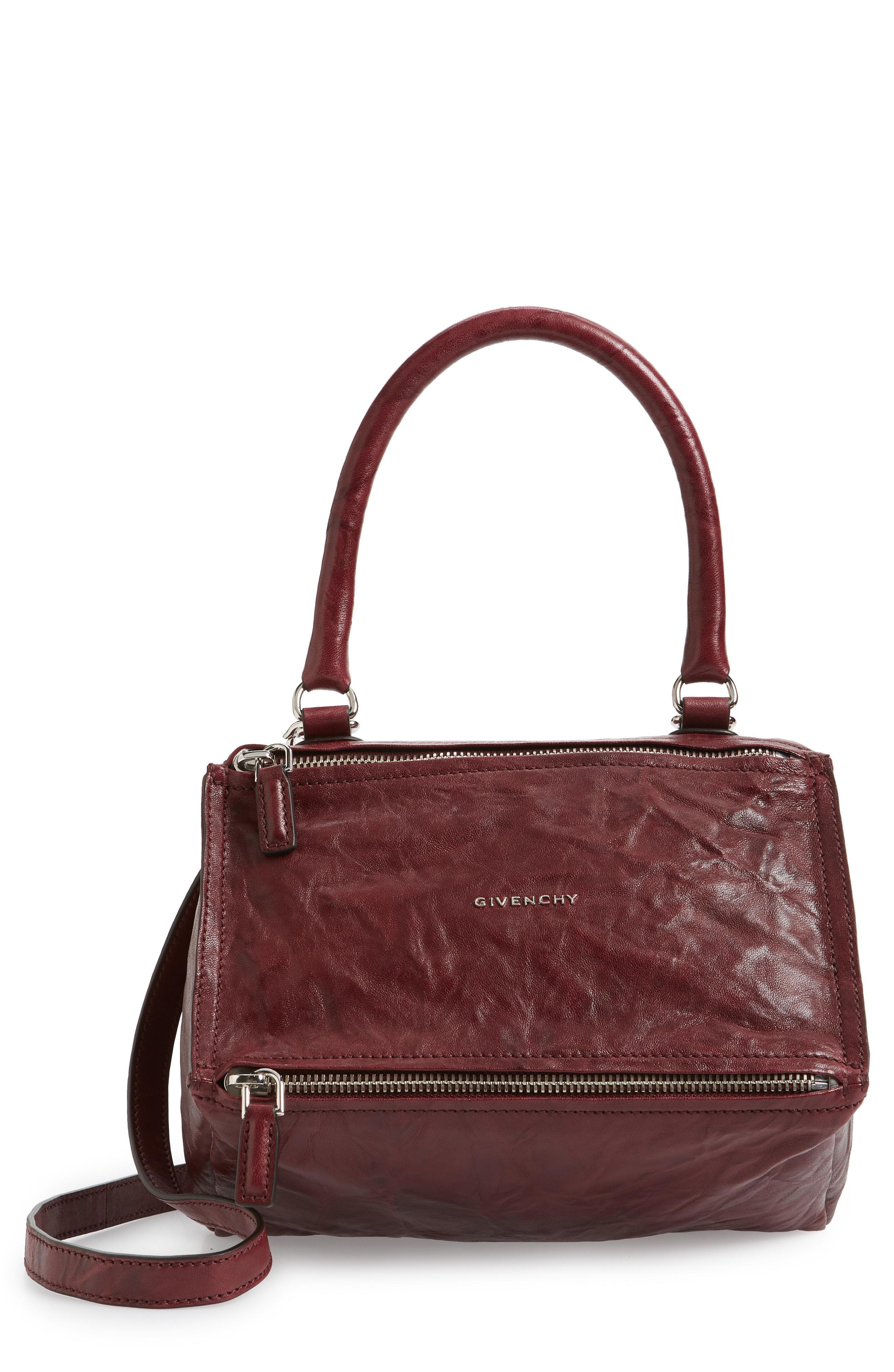 Givenchy - Brown  small Pepe Pandora  Leather Crossbody Bag - Burgundy -  Lyst. View fullscreen 32fdfb619b8bd