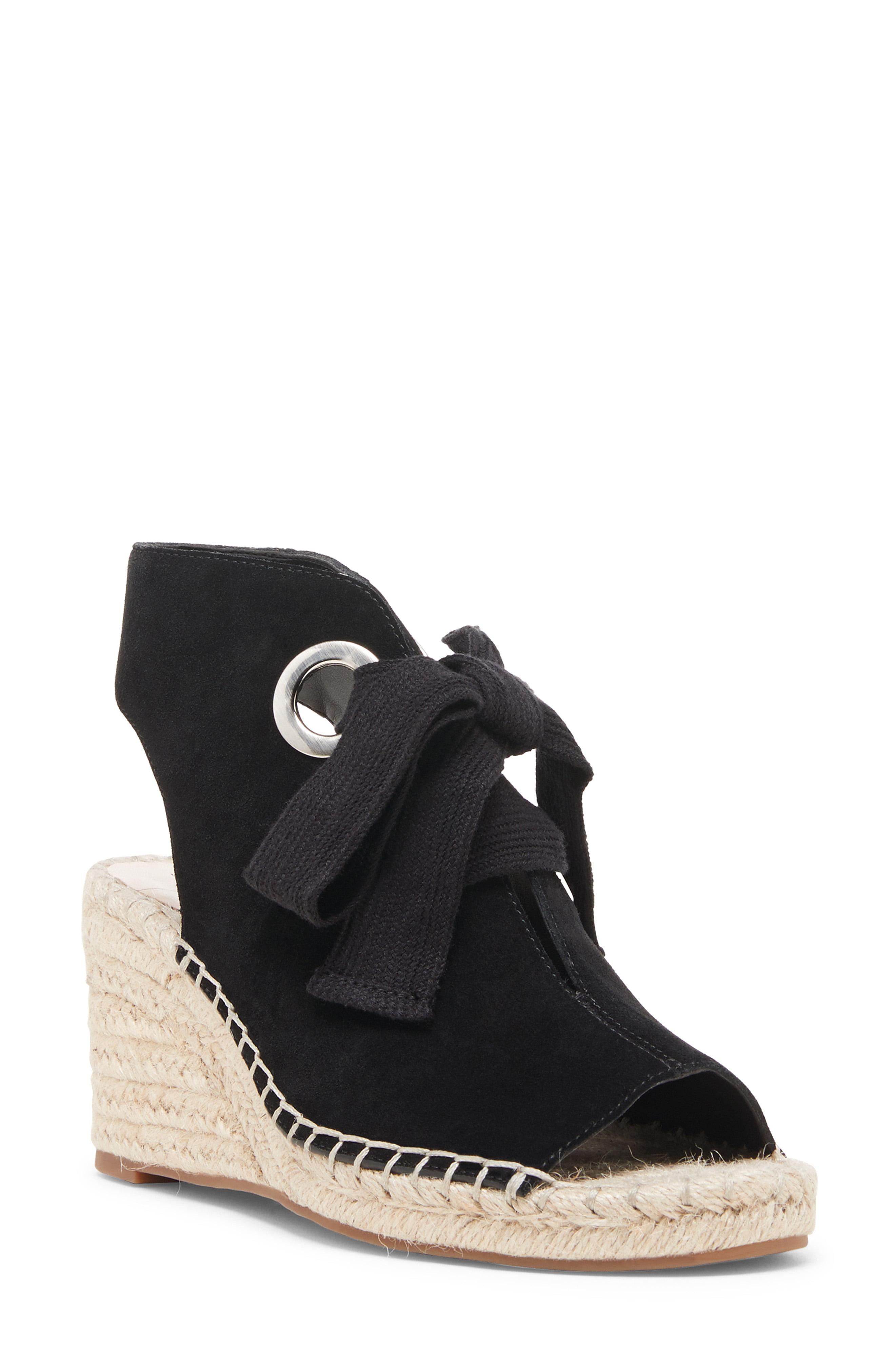 2432e5a2a38a Lyst - Sole Society Cambrine Lace-up Wedge in Black