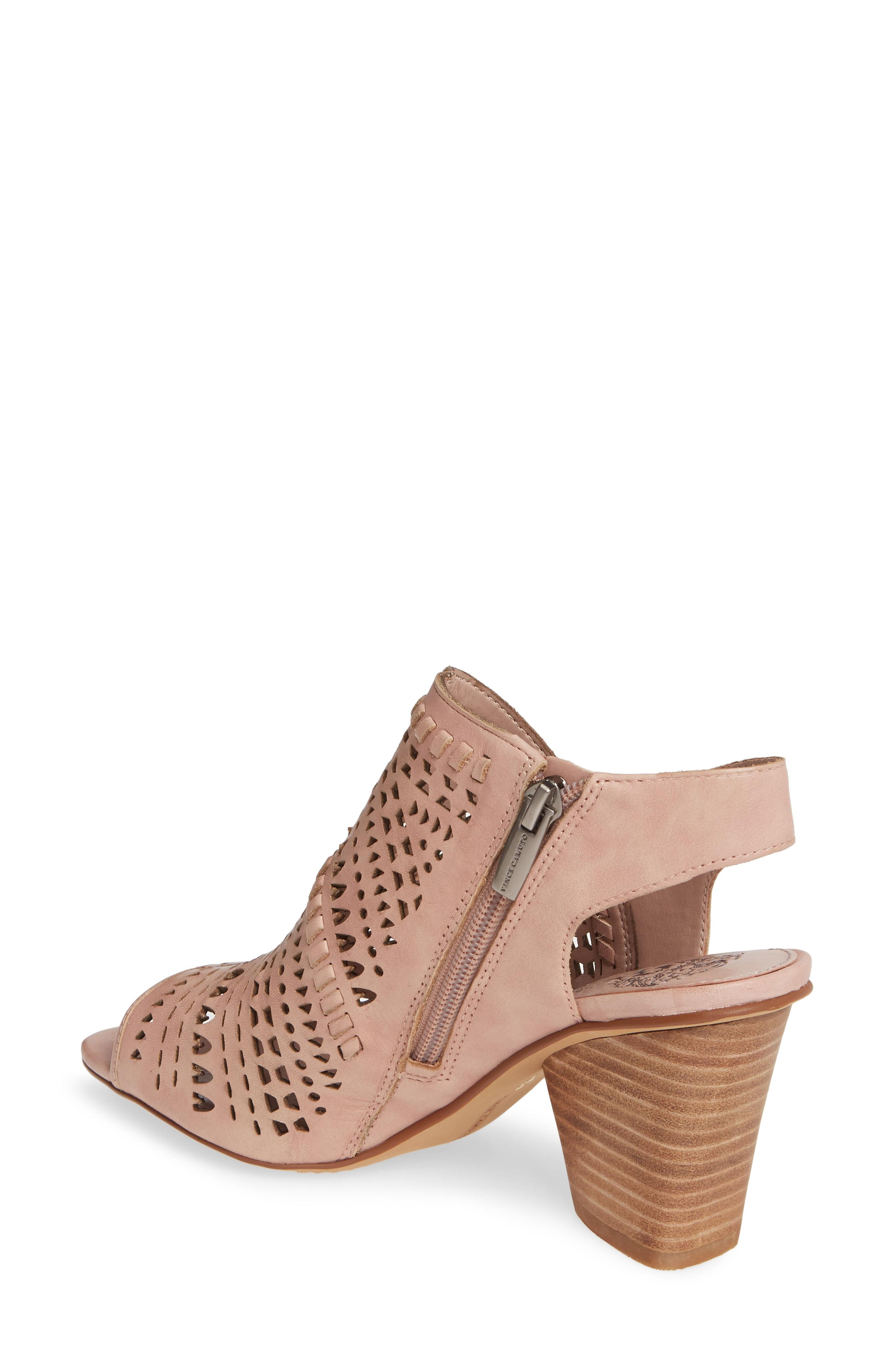 269546a94bf Vince Camuto - Black Derechie Perforated Shield Sandal - Lyst. View  fullscreen