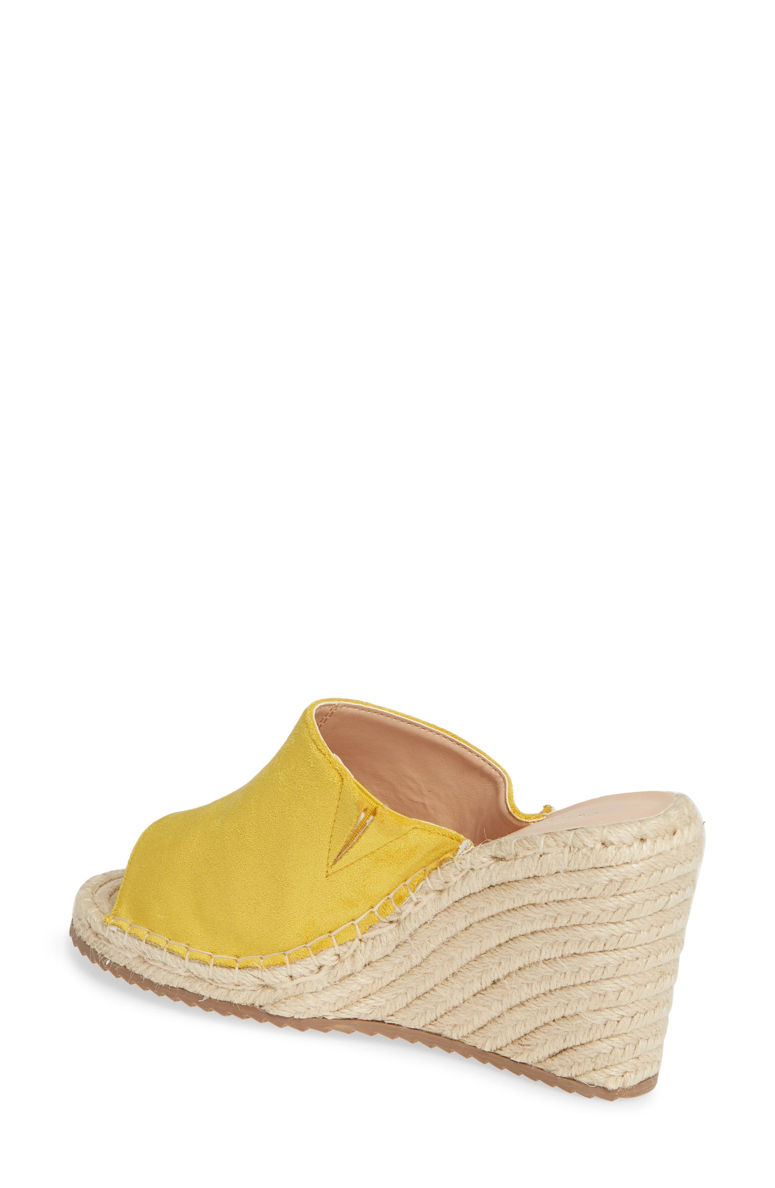 6b268634c93 Women's Yellow Mused Espadrille Wedge Slide Sandal