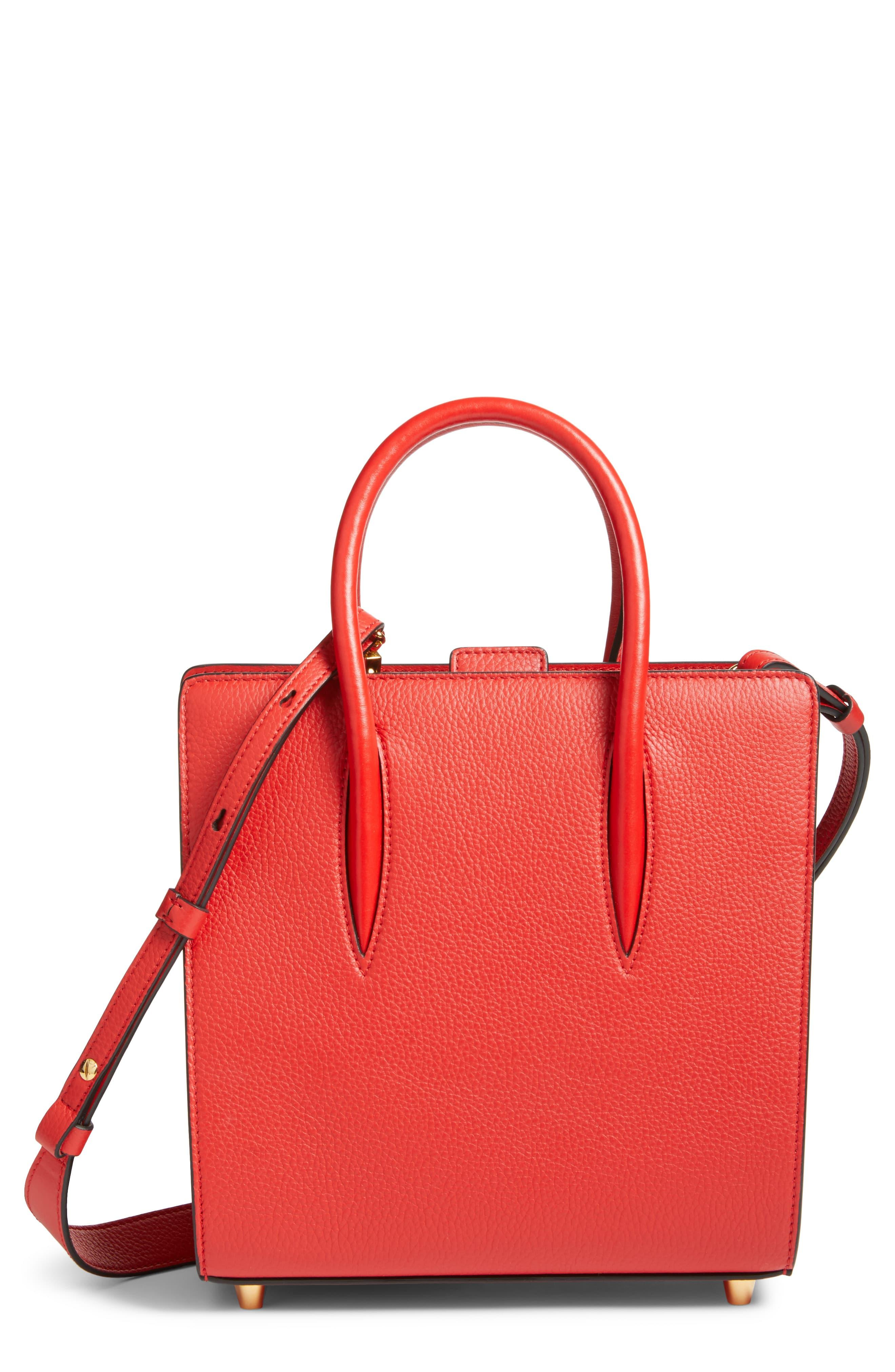 2993695f73f Christian Louboutin Small Paloma Empire Leather Tote in Red - Lyst