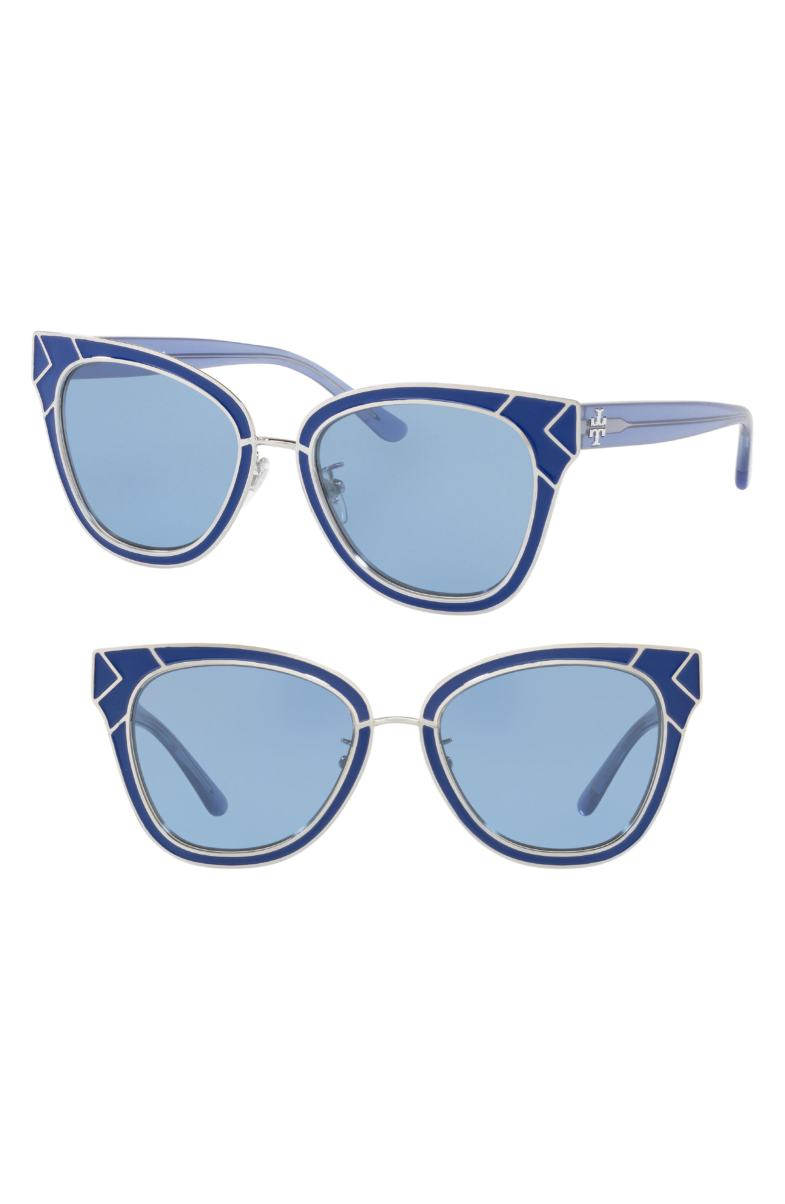fdaa52ee86 Lyst - Tory Burch Enamel San Ray 53mm Sunglasses - in Blue