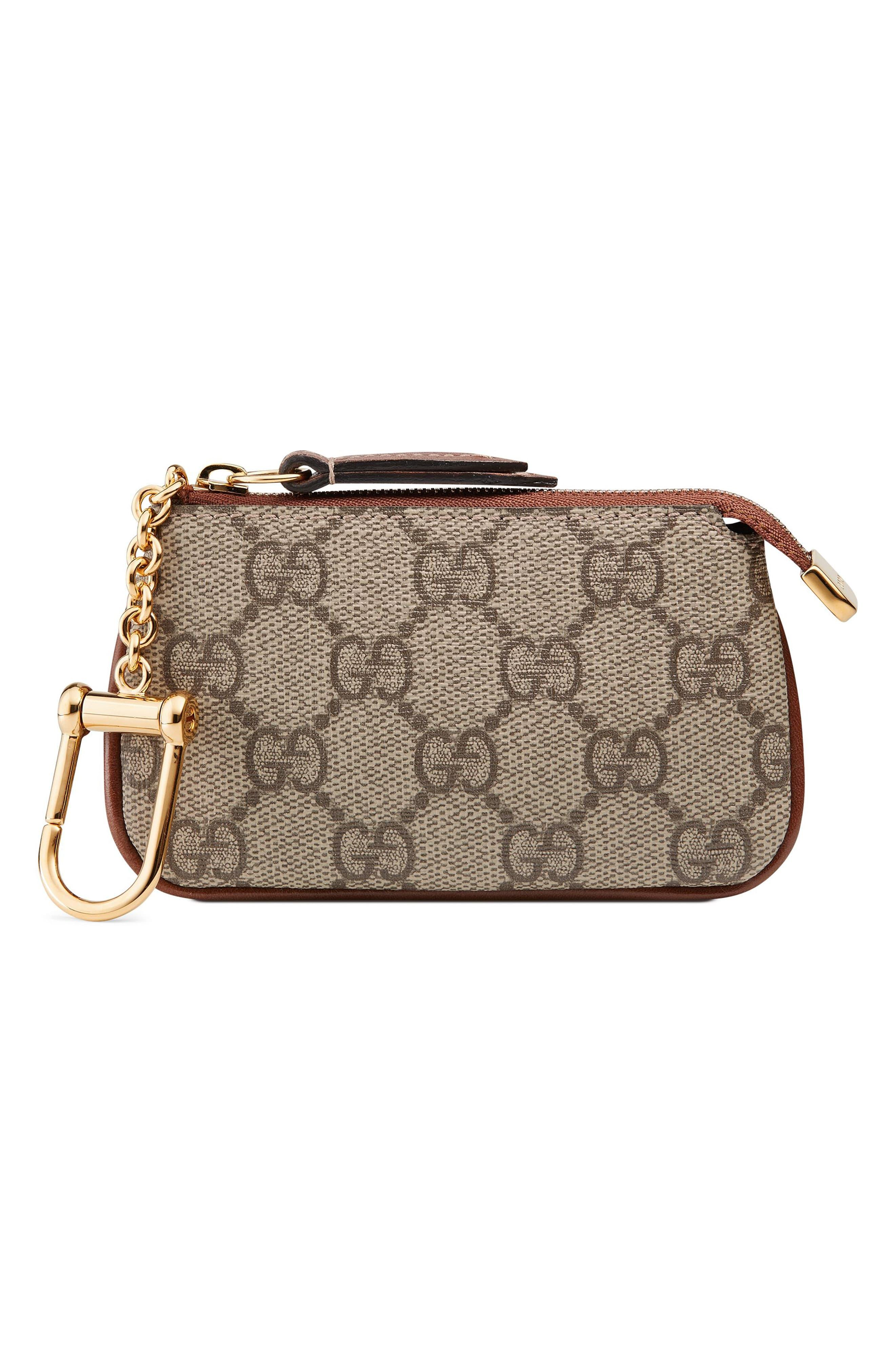 beab9b0dadde Gucci Linea Gg Supreme Canvas Key Case Pouch - - Lyst