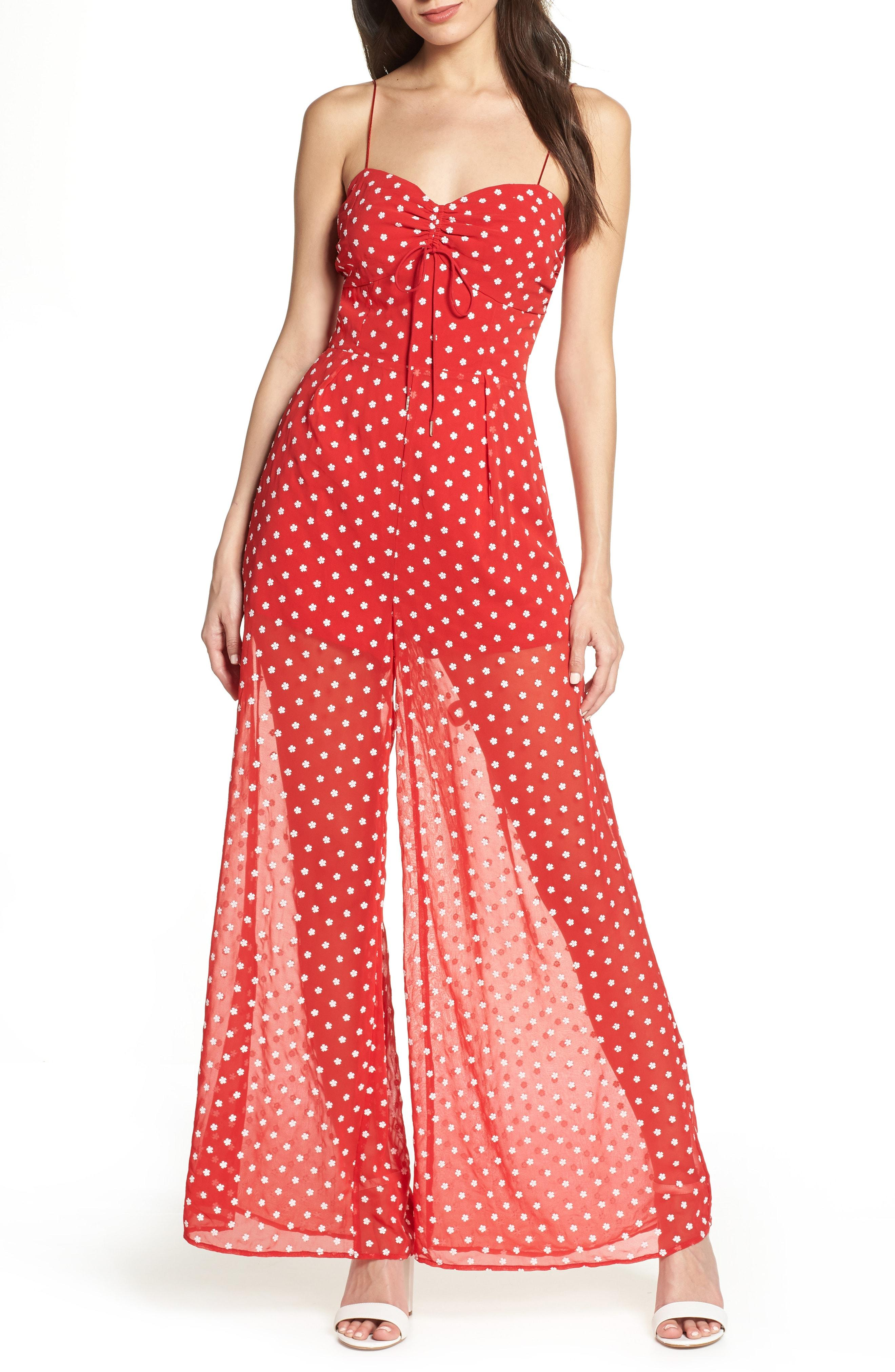 539cf5b0391f Lyst - Finders Keepers Blossom Wide Leg Jumpsuit in Red