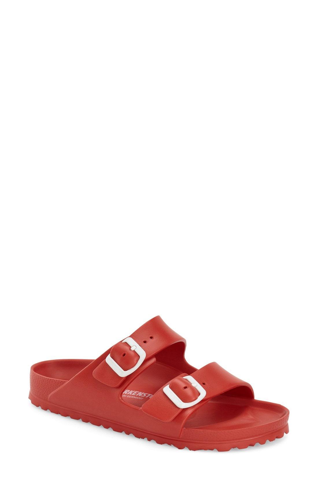 e1109b031 Birkenstock Essentials - Arizona Slide Sandal in Red - Lyst