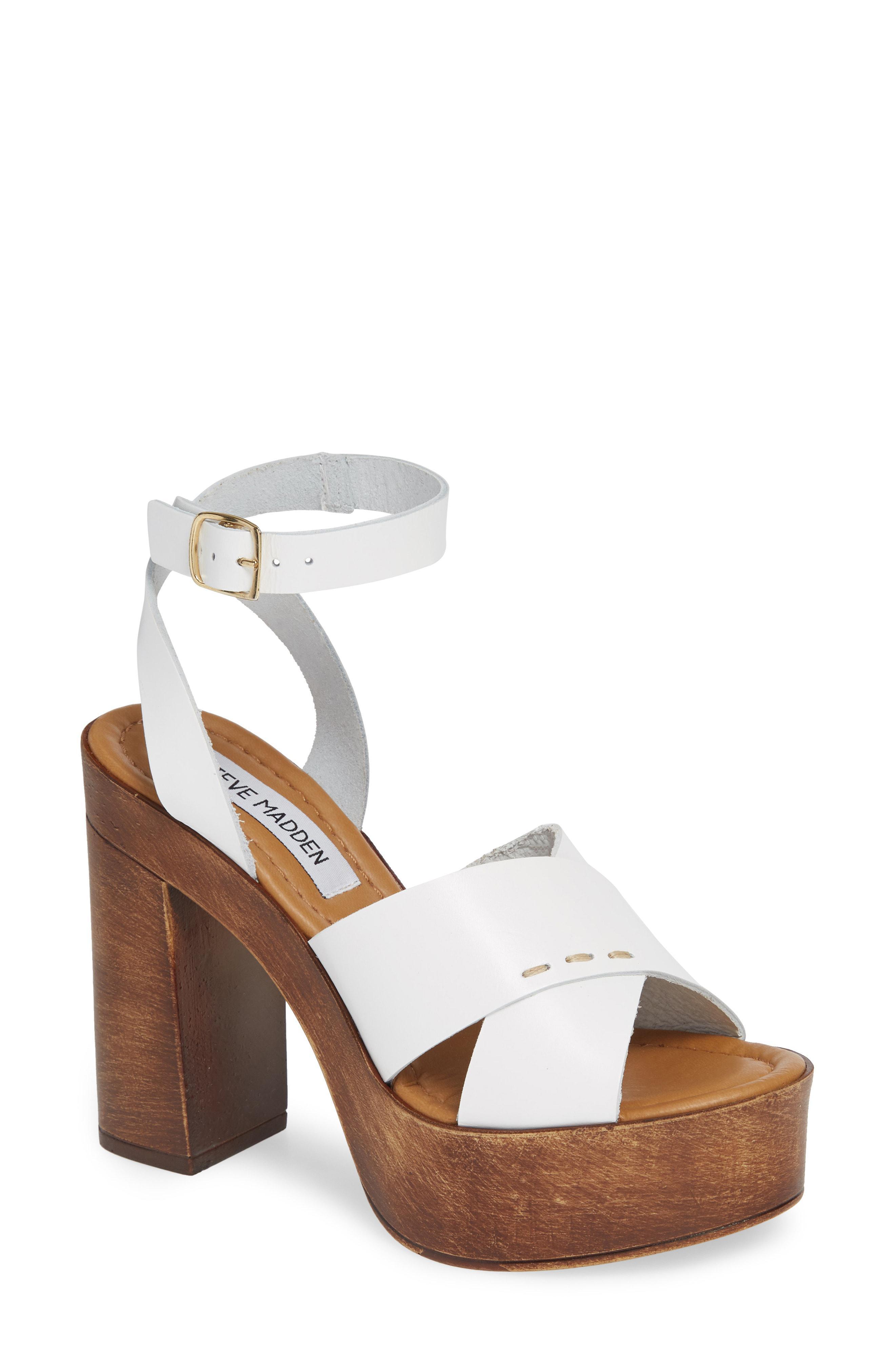 0cb001595f6d Lyst - Steve Madden Liliana Platform Sandal in White