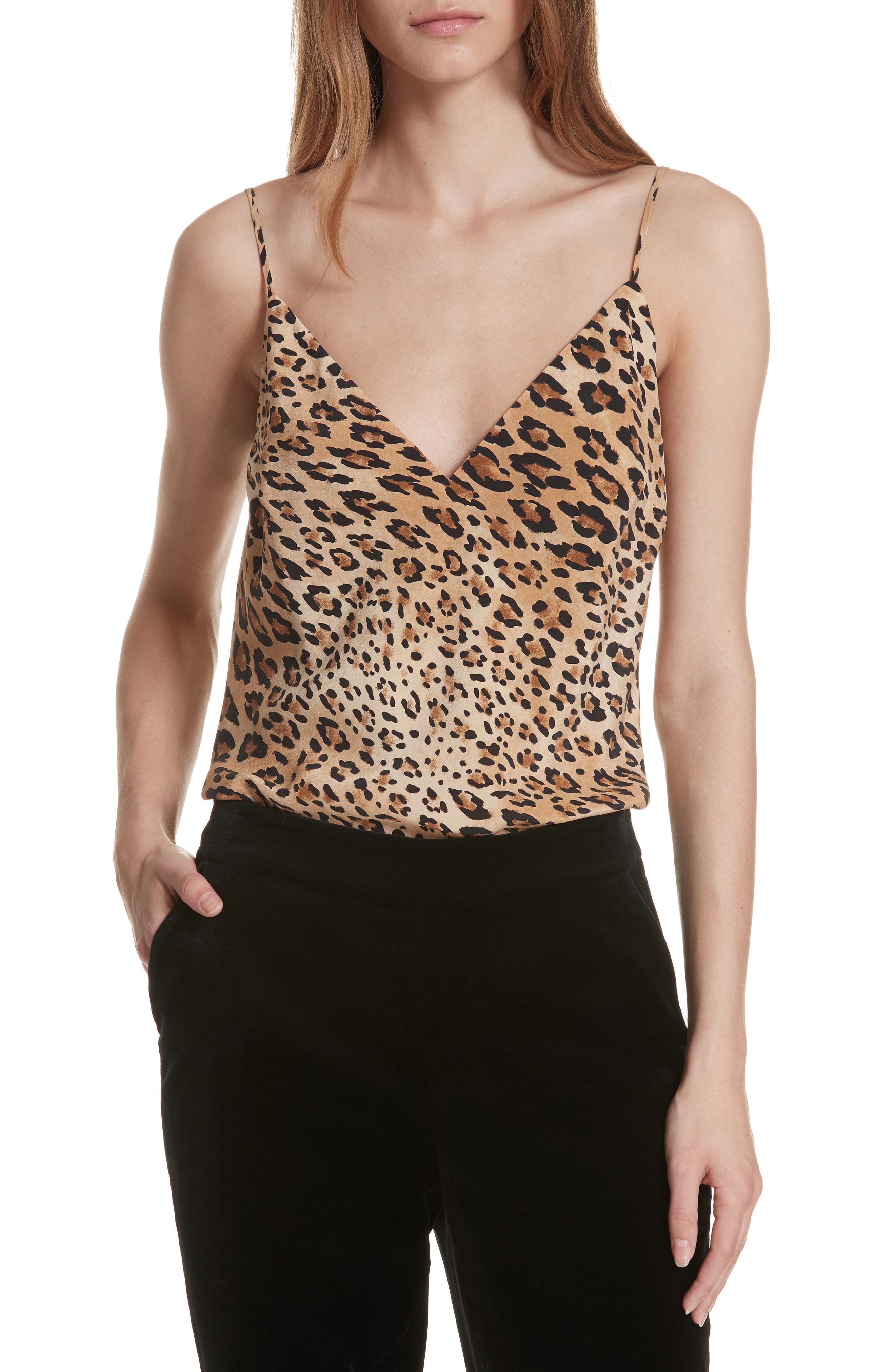 d6c948db5219a Women s Natural Cheetah Print Silk Camisole