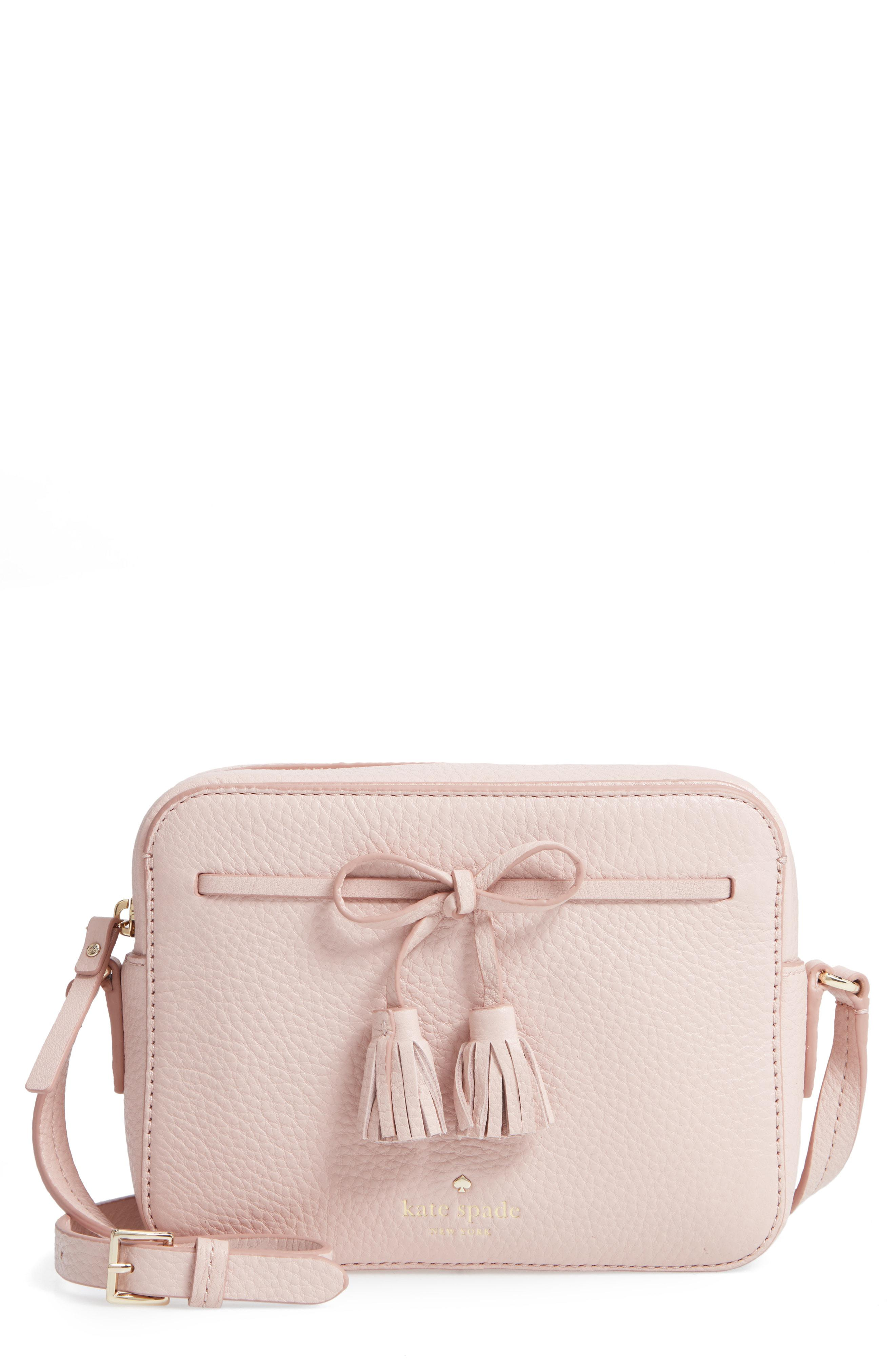 62236efd2237 Kate Spade Hayes Street - Arla Leather Crossbody Bag in Pink - Lyst
