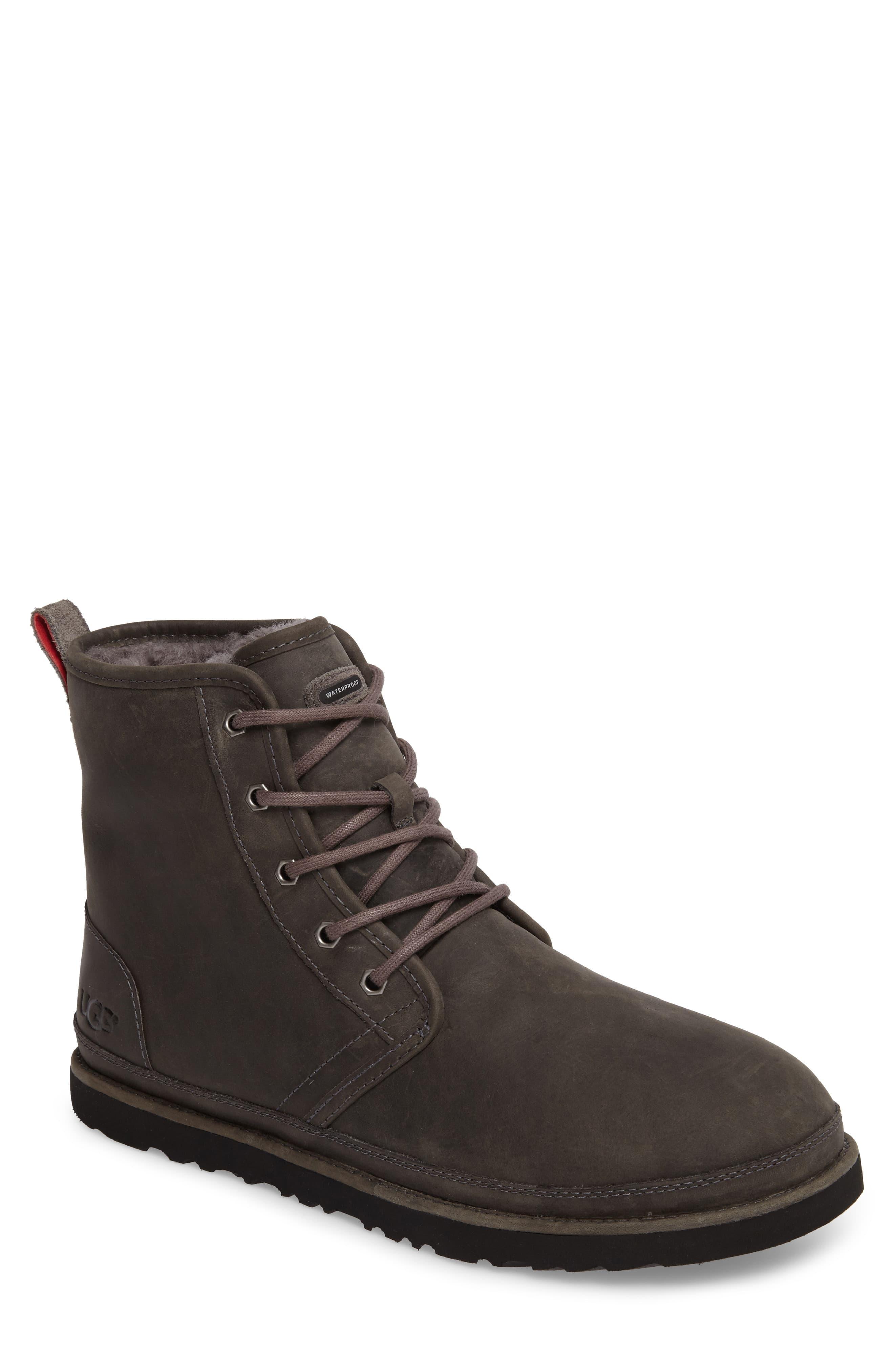 235790daacb Men's Brown Ugg Harkley Plain Toe Waterproof Boot