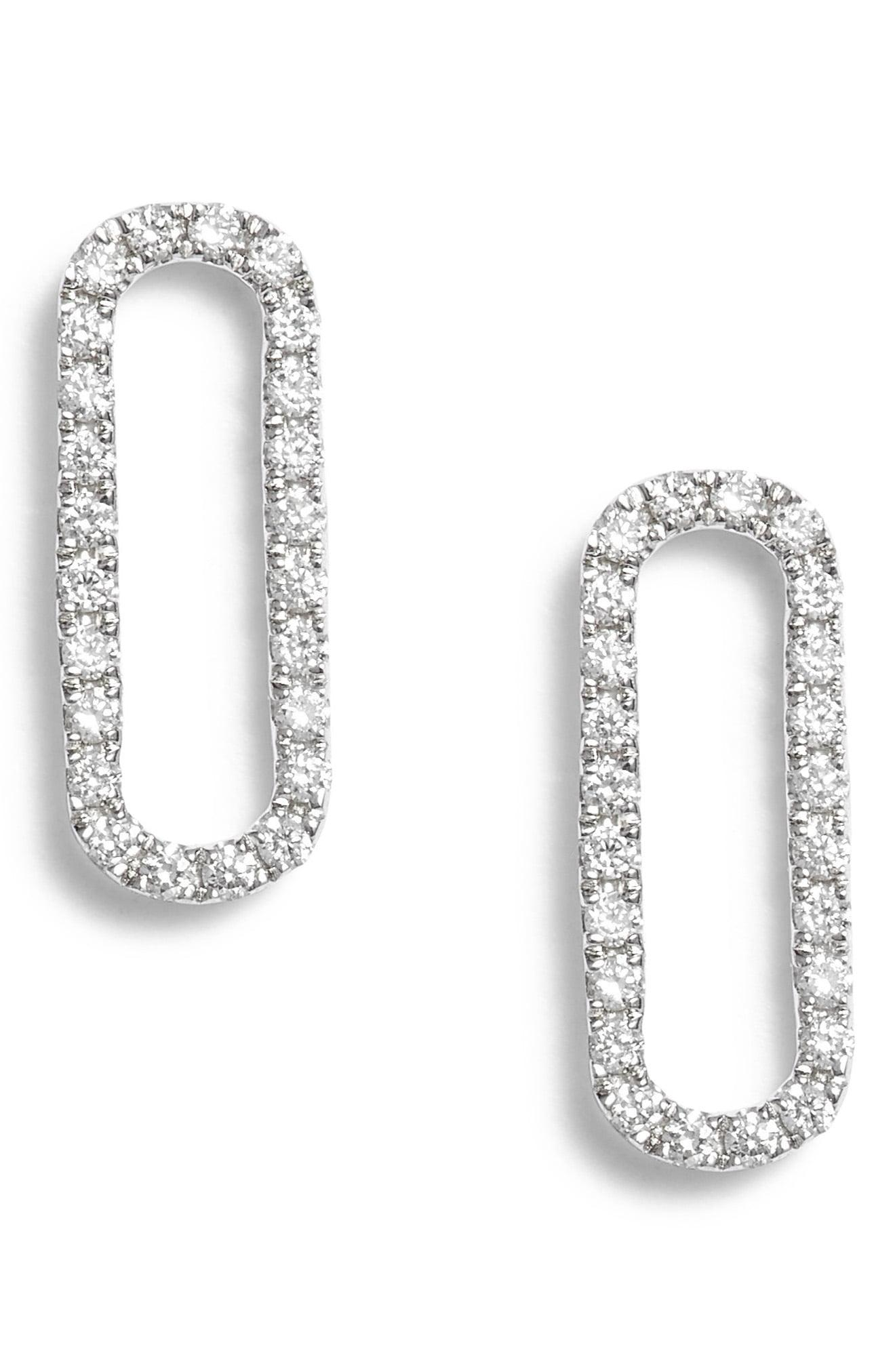 725d33d3c Bony Levy. Women's Rounded Rectangle Diamond Stud Earrings (nordstrom  Exclusive)