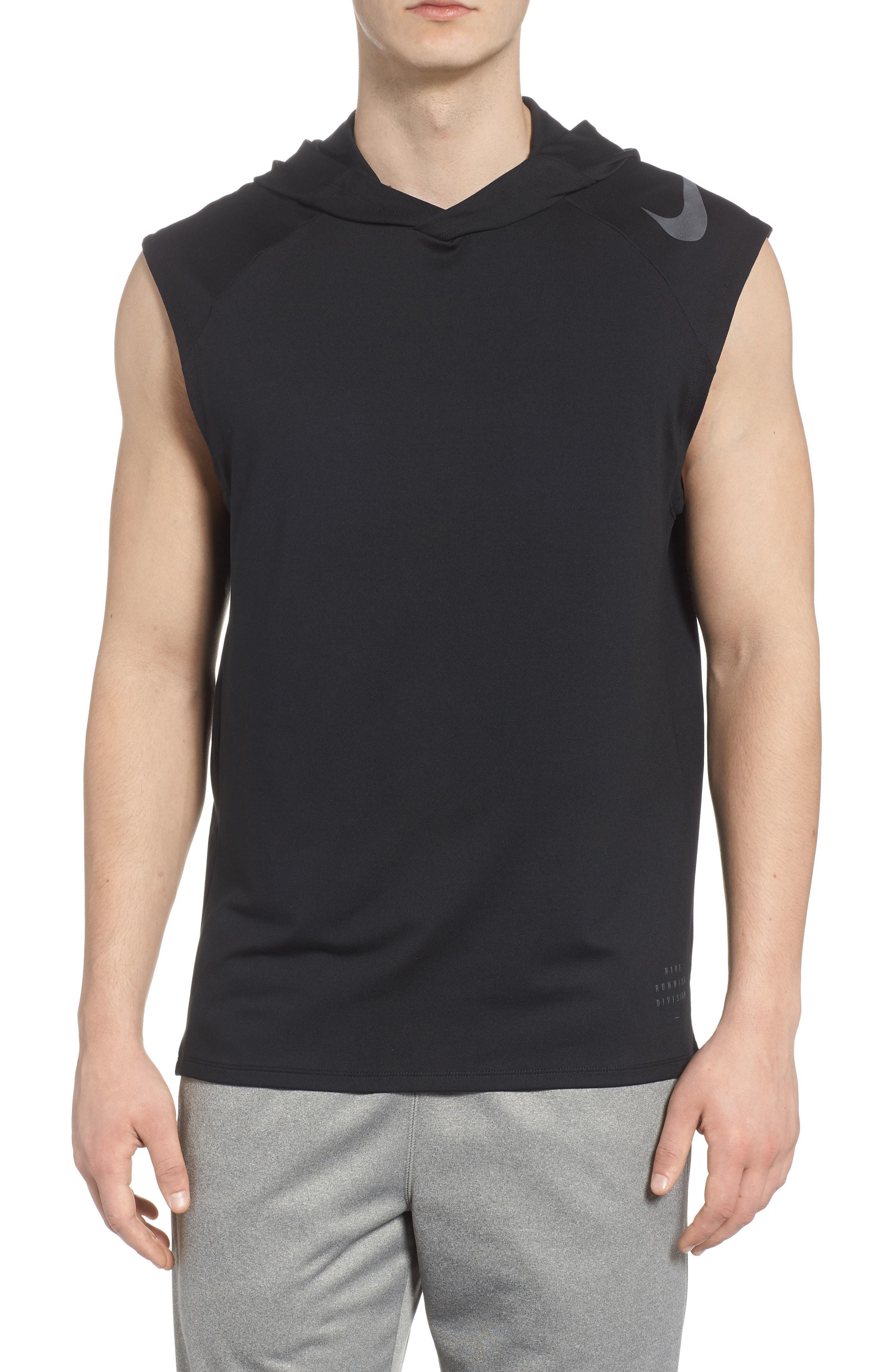 ce3b90b714fd2c Lyst - Nike Dry Element Sleeveless Hoodie in Black for Men